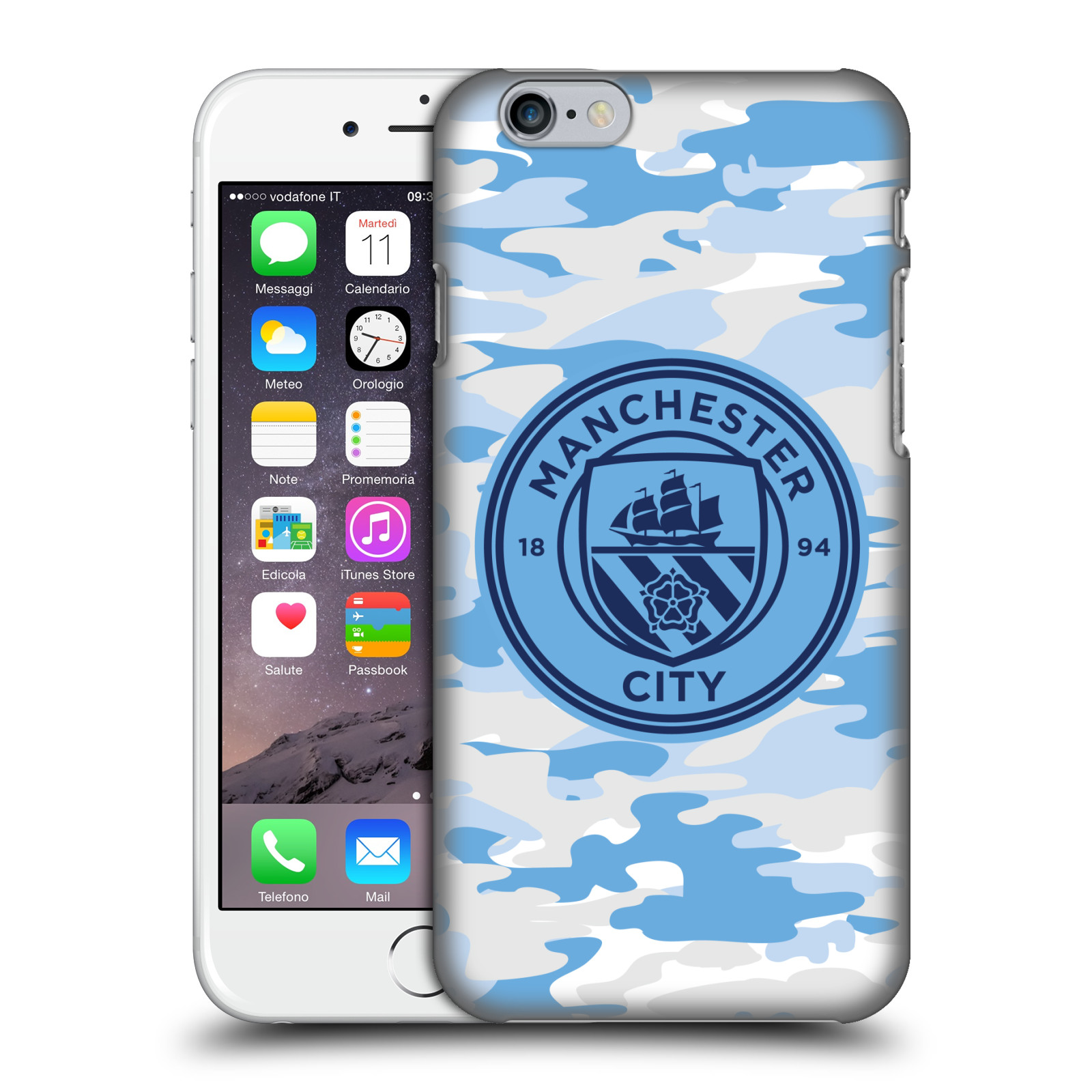 Manchester City FC MCFC Badge Camou-Light Blue Moon Mono