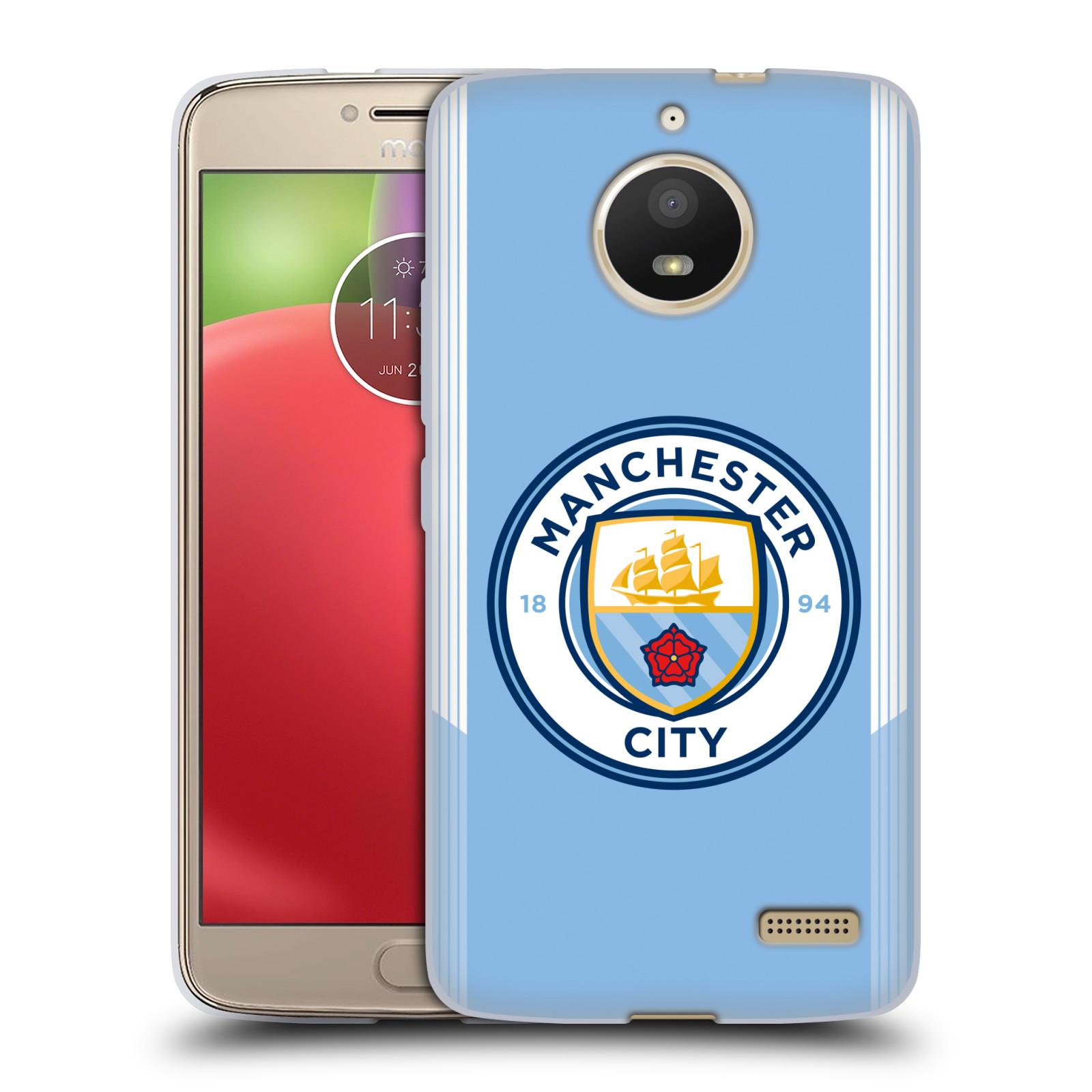 HEAD CASE silikonový obal na mobil Lenovo Moto E4 Fotbalový klub Manchester City modrá barva domácí dresy