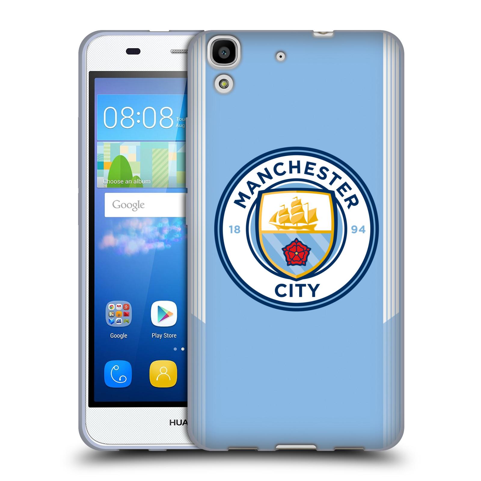 HEAD CASE silikonový obal na mobil Huawei Y6 Fotbalový klub Manchester City  modrá barva domácí dresy a686d54327c