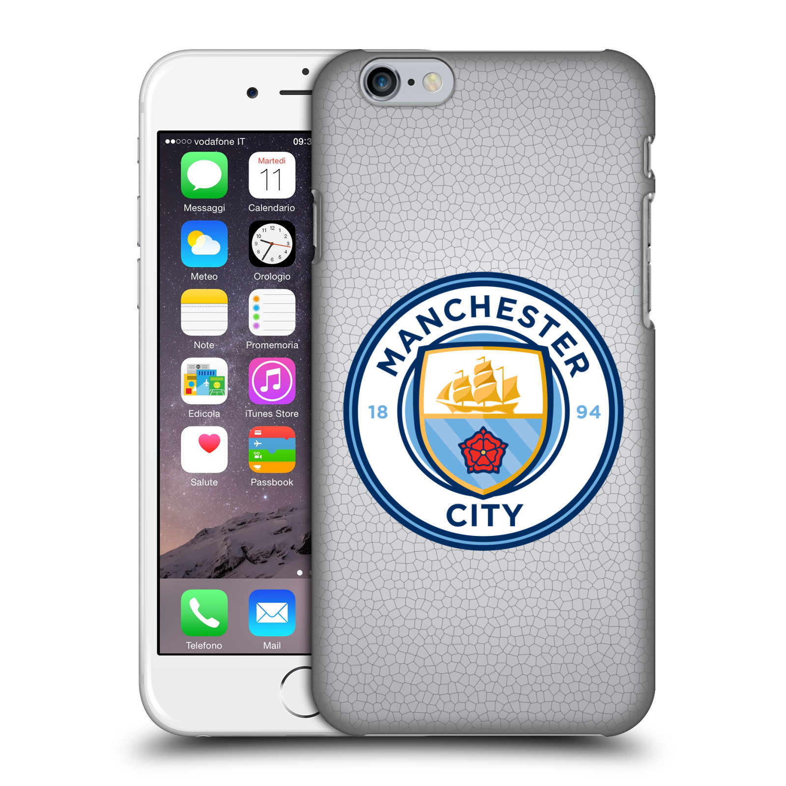 Manchester City FC MCFC Badge Pixels-Mosaic Full Colour
