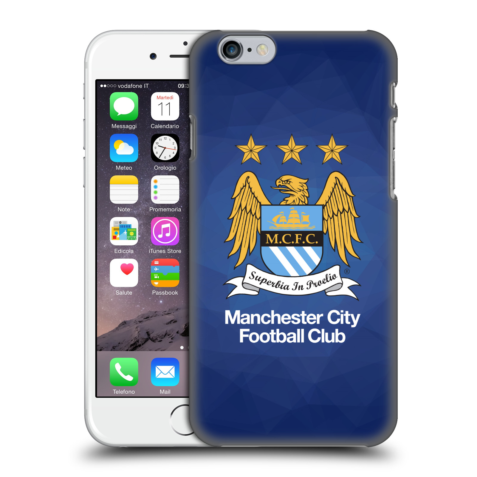 Manchester City FC MCFC Crest Geometric-Obsidian Full Colour