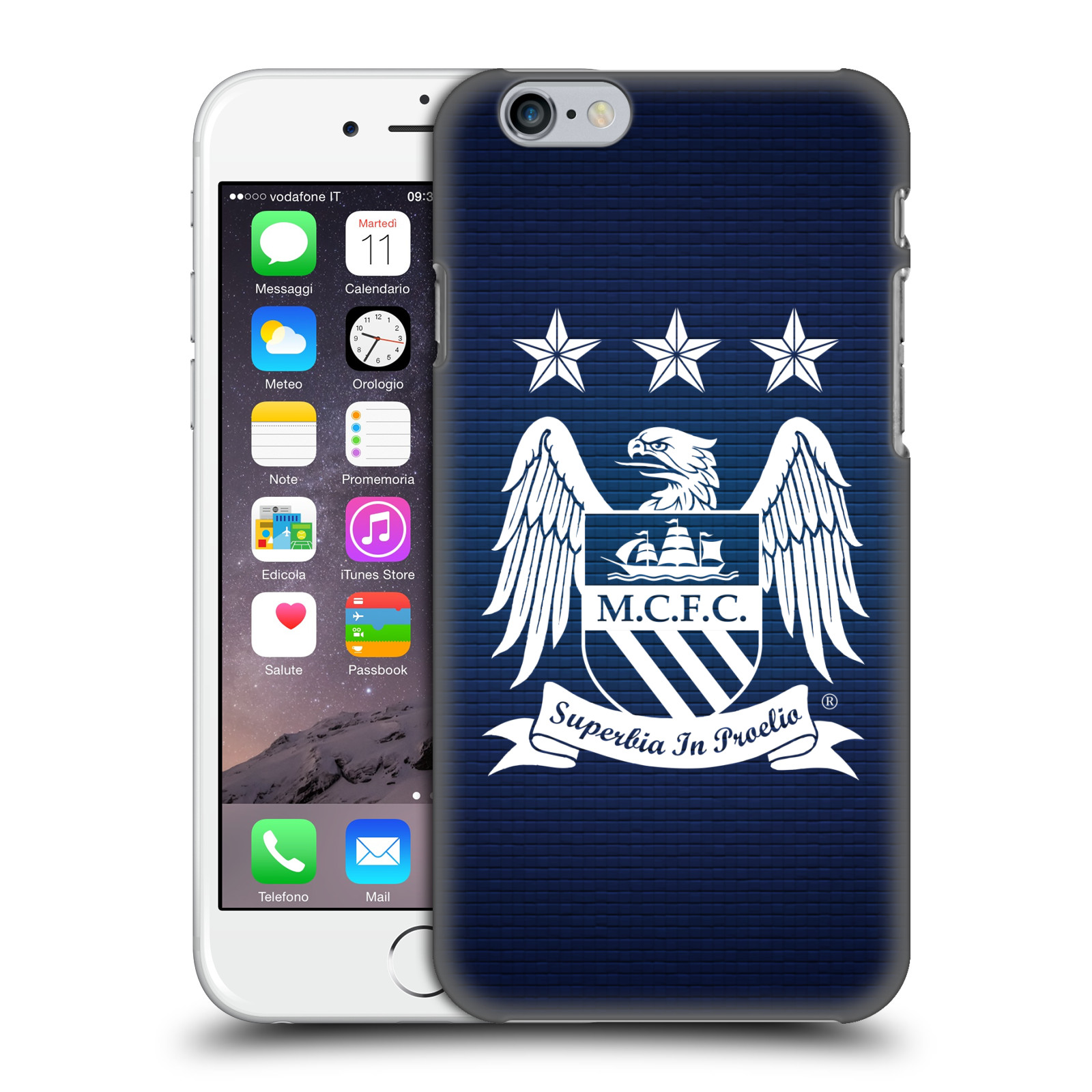 Manchester City FC MCFC Crest Pixels-Obsidian Null Cube