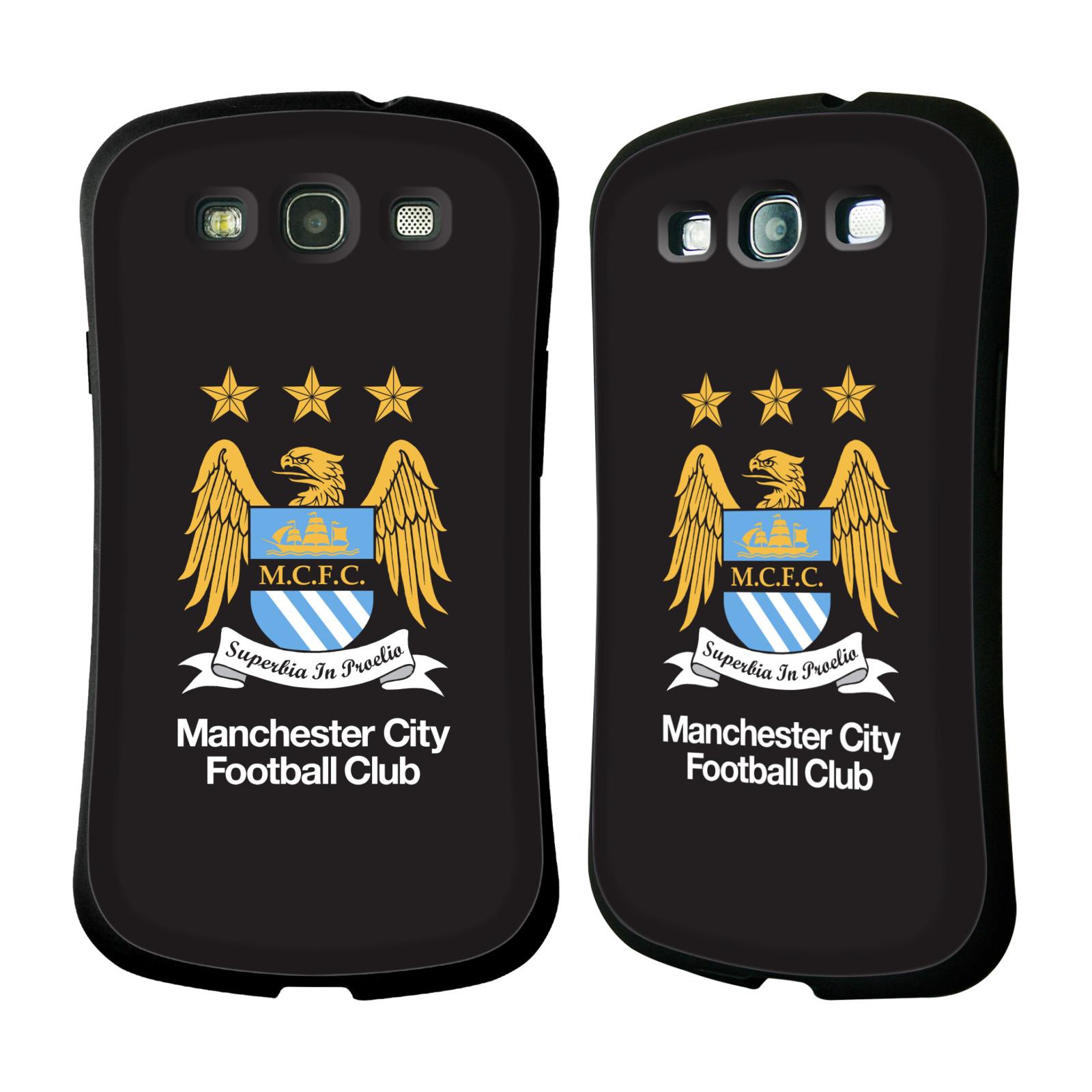 HEAD CASE silikon/plast odolný obal na mobil Samsung Galaxy S3 i9300 / S3 NEO Fotbal Oficiální znak Manchester City černé pozadí