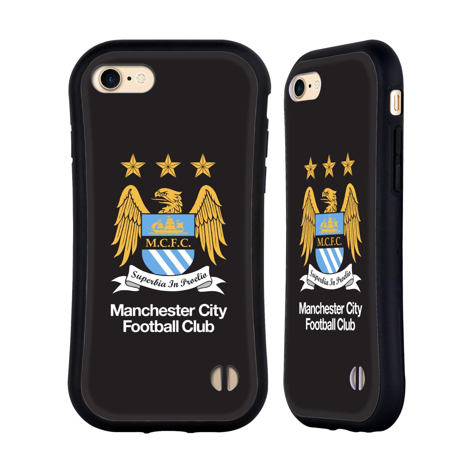 HEAD CASE odolný obal na mobil Apple Iphone 8 Fotbalový klub Manchester City černé pozadí velký znak