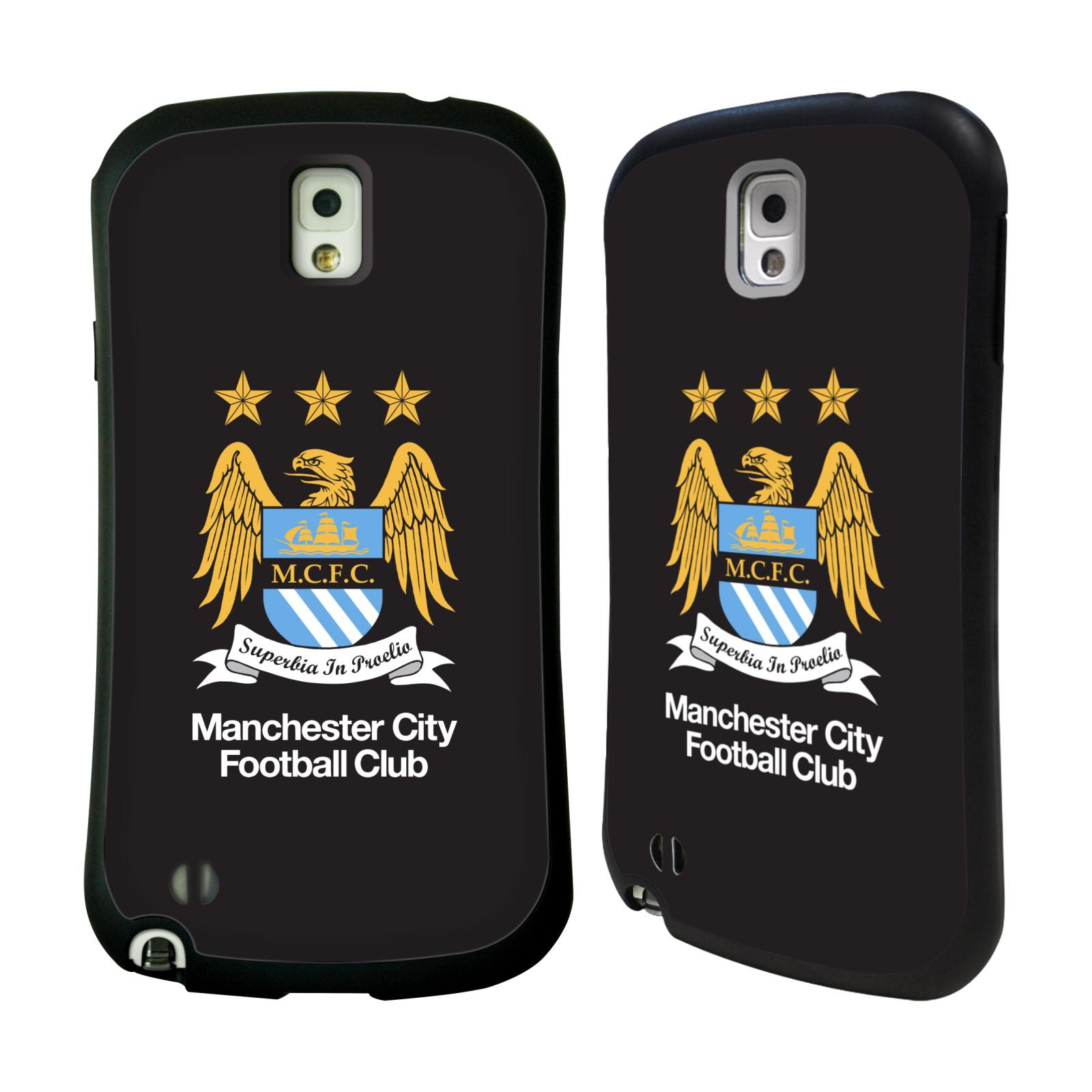 HEAD CASE silikon/plast odolný obal na mobil Samsung Galaxy NOTE 3 (N9005) Fotbal Oficiální znak Manchester City černé pozadí