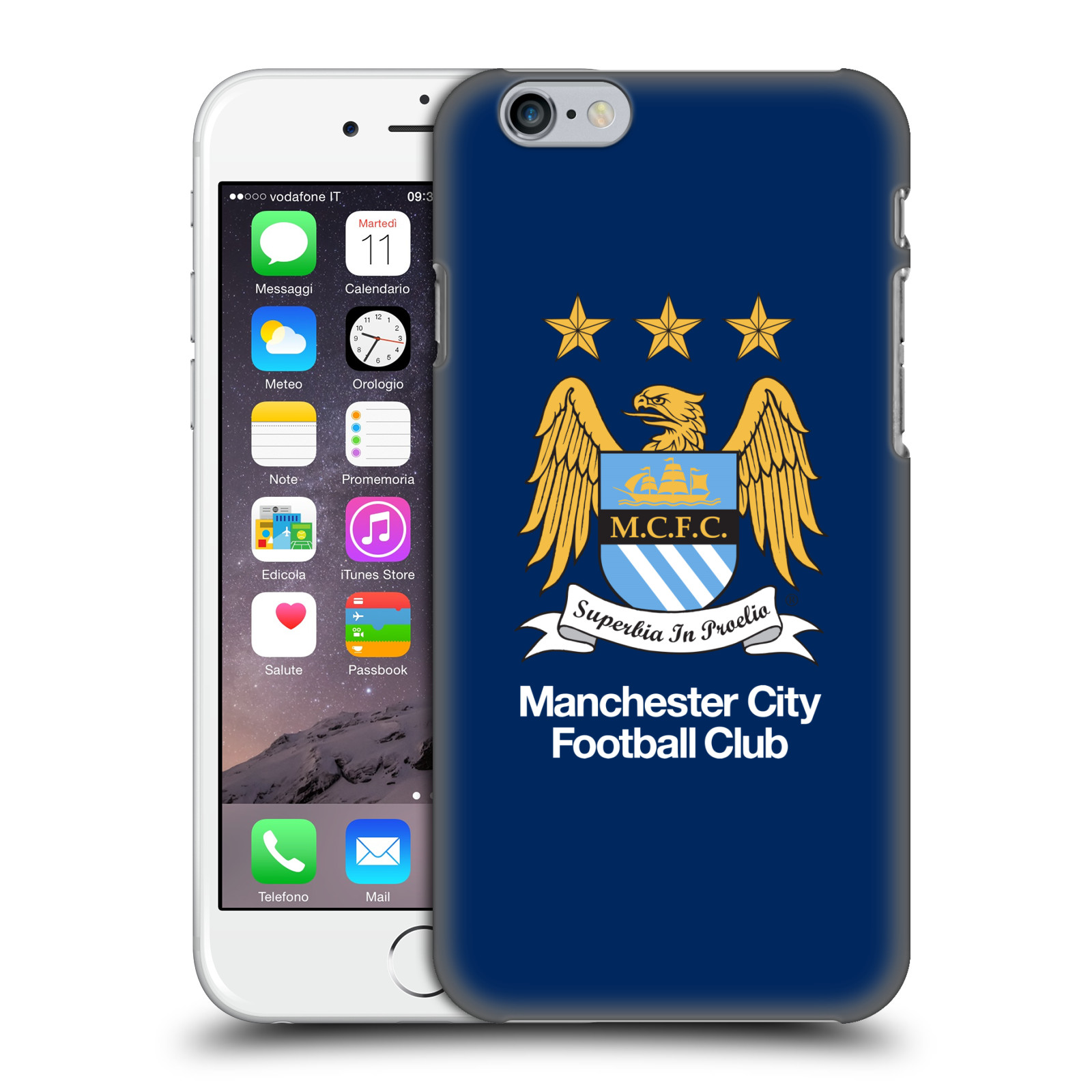 Manchester City FC MCFC Crest-Full Colour Obsidian Blue