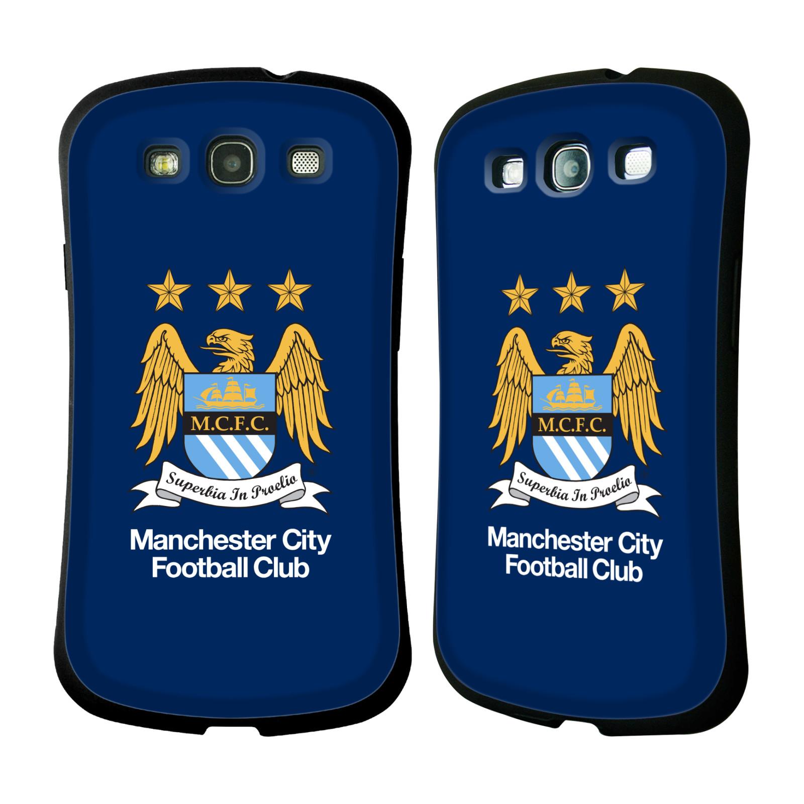 HEAD CASE silikon/plast odolný obal na mobil Samsung Galaxy S3 i9300 / S3 NEO Oficiální znak Manchester City tmavě modré pozadí