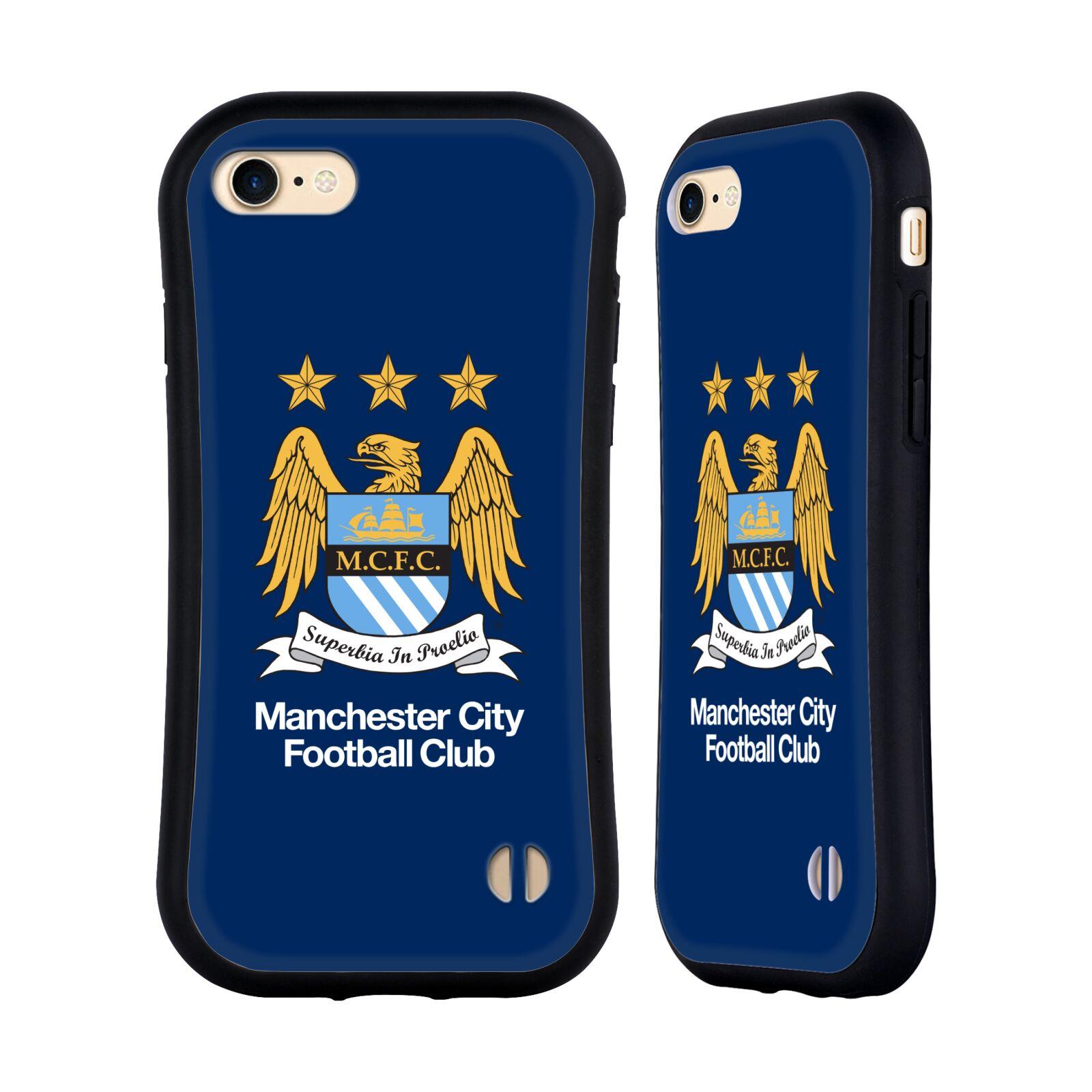 HEAD CASE odolný obal na mobil Apple Iphone 8 Fotbalový klub Manchester City modré pozadí velký znak