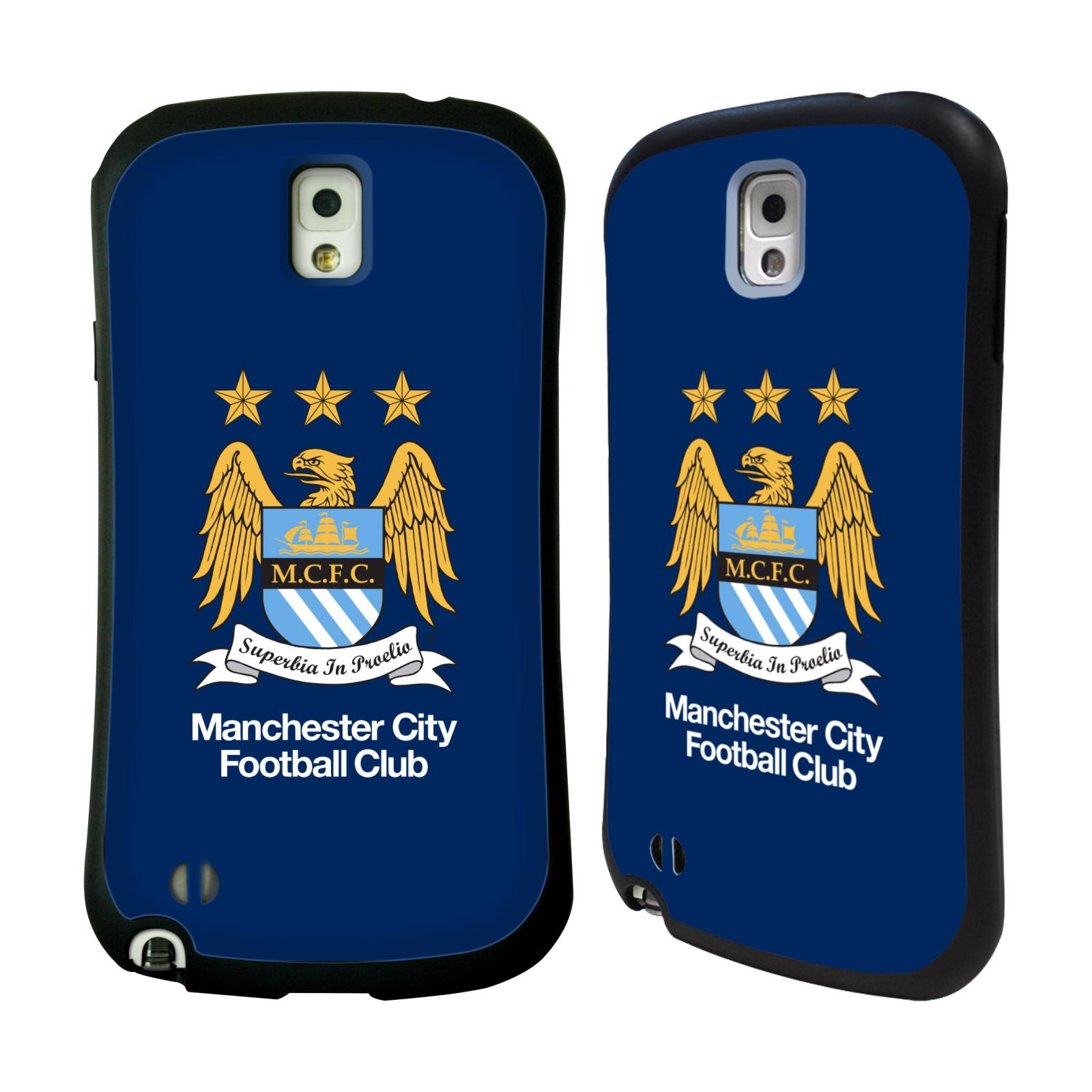 HEAD CASE silikon/plast odolný obal na mobil Samsung Galaxy NOTE 3 (N9005) Oficiální znak Manchester City tmavě modré pozadí