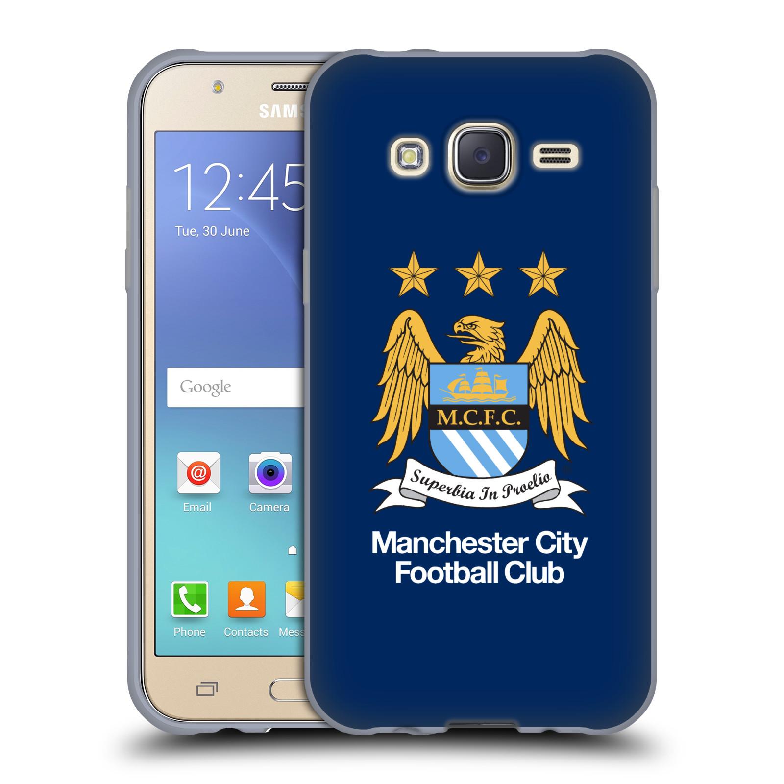HEAD CASE silikonový obal na mobil Samsung Galaxy J5 2015 (J500) Fotbalový klub Manchester City modré pozadí velký znak