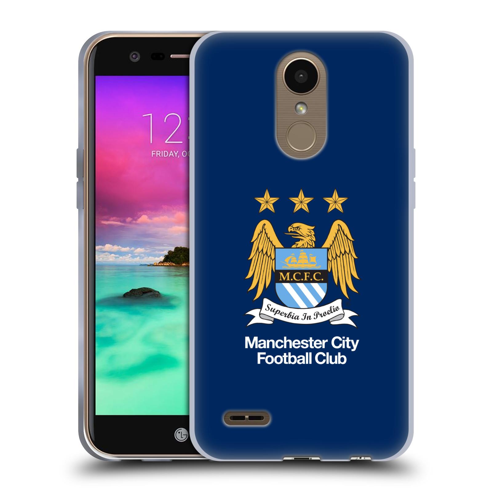 HEAD CASE silikonový obal na mobil LG K10 2017 / K10 2017 DUAL SIM Fotbalový klub Manchester City modré pozadí velký znak