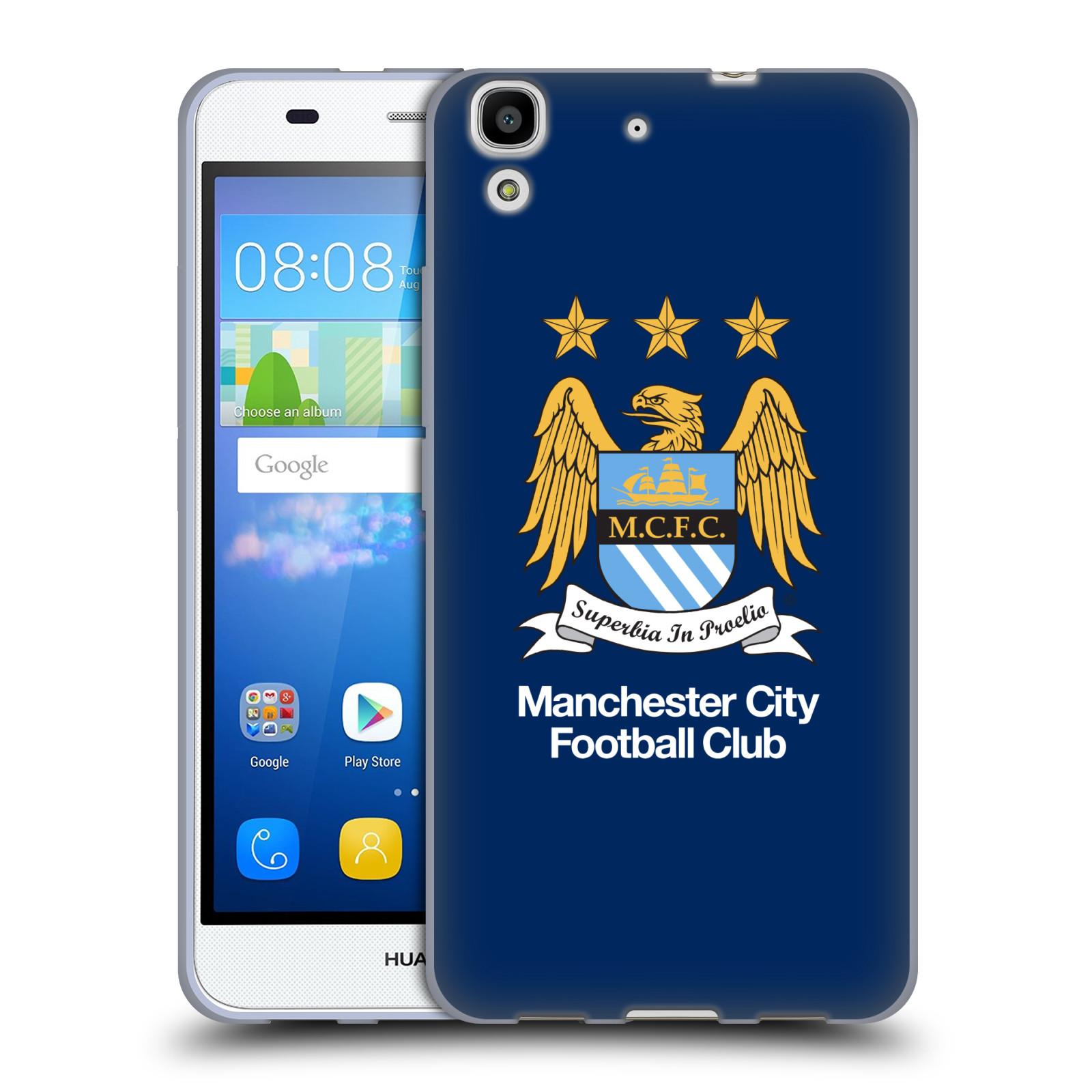 HEAD CASE silikonový obal na mobil Huawei Y6 Fotbalový klub Manchester City modré pozadí velký znak