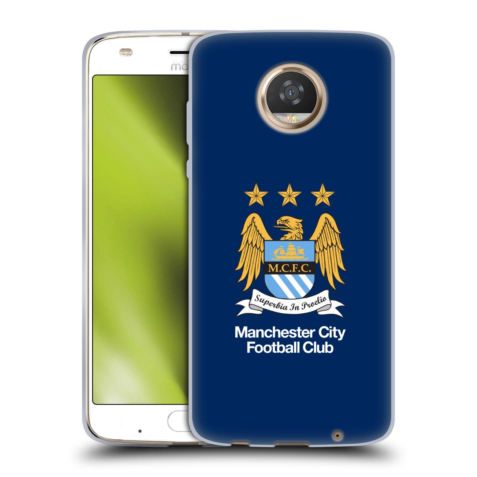 HEAD CASE silikonový obal na mobil Motorola Moto Z2 PLAY Fotbalový klub Manchester City modré pozadí velký znak