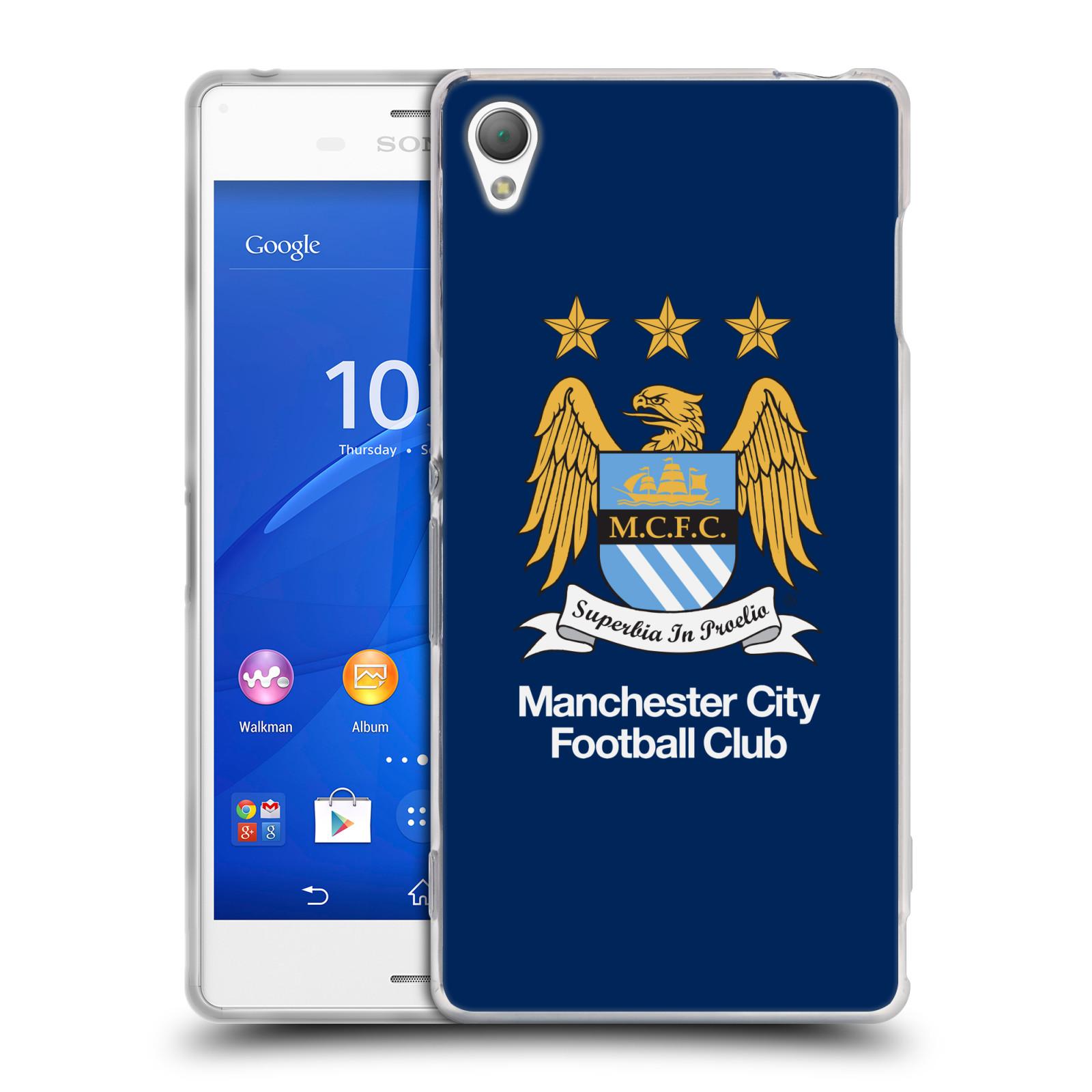 HEAD CASE silikonový obal na mobil Sony Xperia Z3 Fotbalový klub Manchester City modré pozadí velký znak