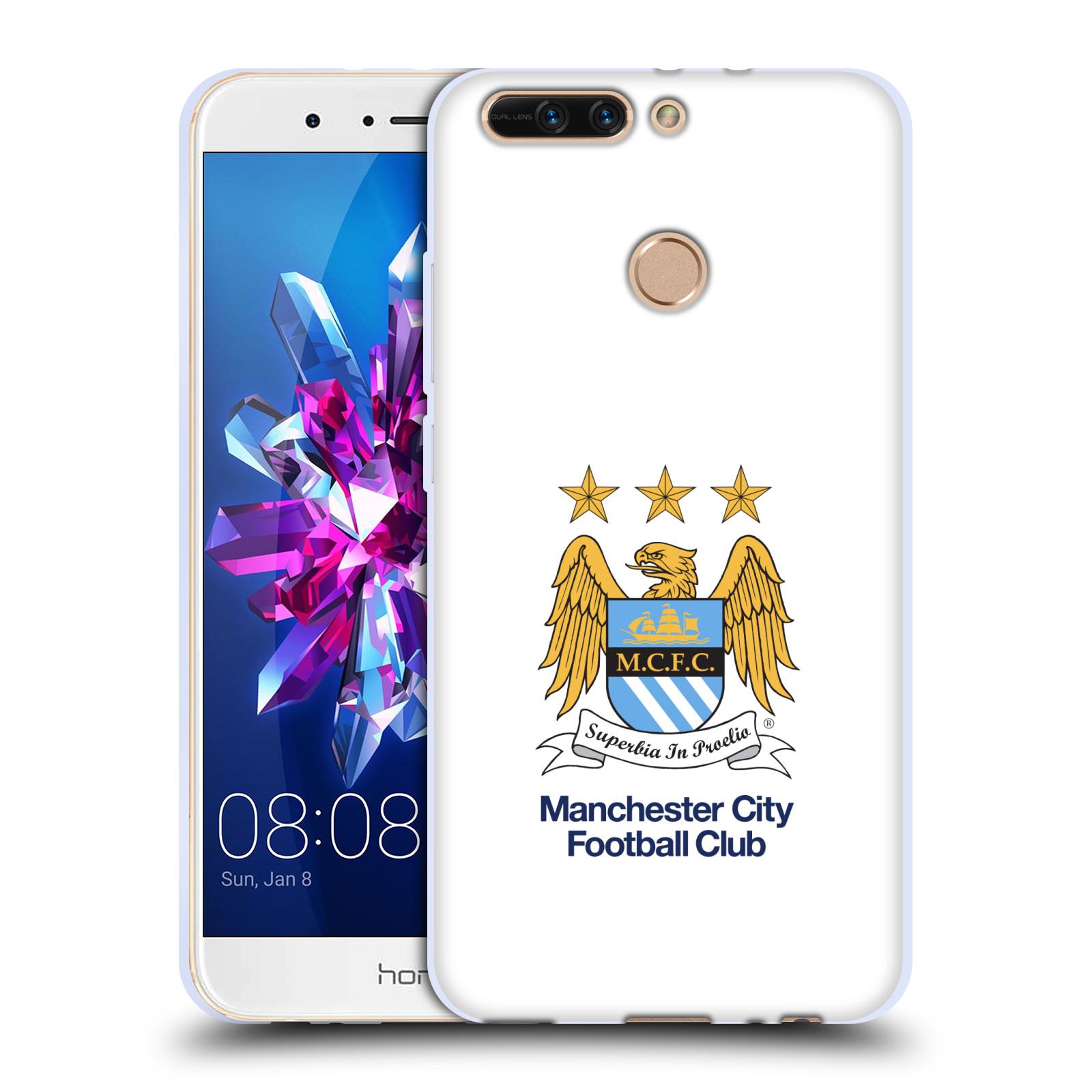 HEAD CASE silikonový obal na mobil Huawei HONOR 8 PRO / Honor 8 PRO DUAL SIM Fotbalový klub Manchester City bílé pozadí velký znak pták