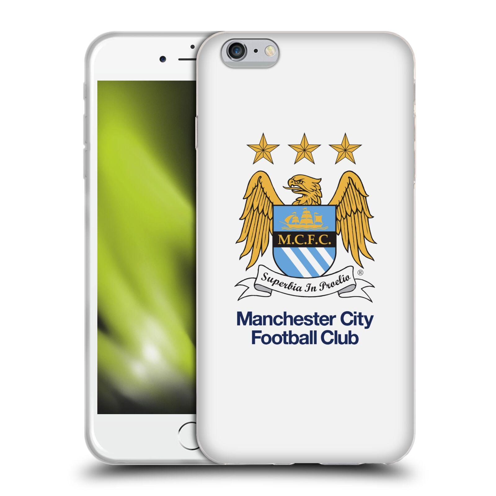HEAD CASE silikonový obal na mobil Apple Iphone 6/6S PLUS Fotbalový klub Manchester City bílé pozadí velký znak pták