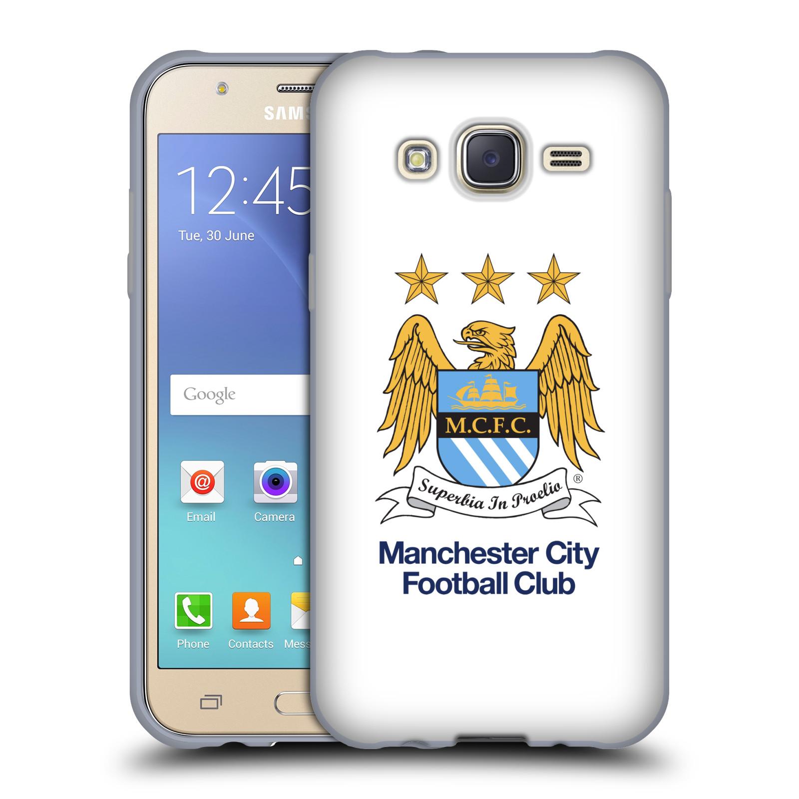 HEAD CASE silikonový obal na mobil Samsung Galaxy J5 2015 (J500) Fotbalový klub Manchester City bílé pozadí velký znak pták