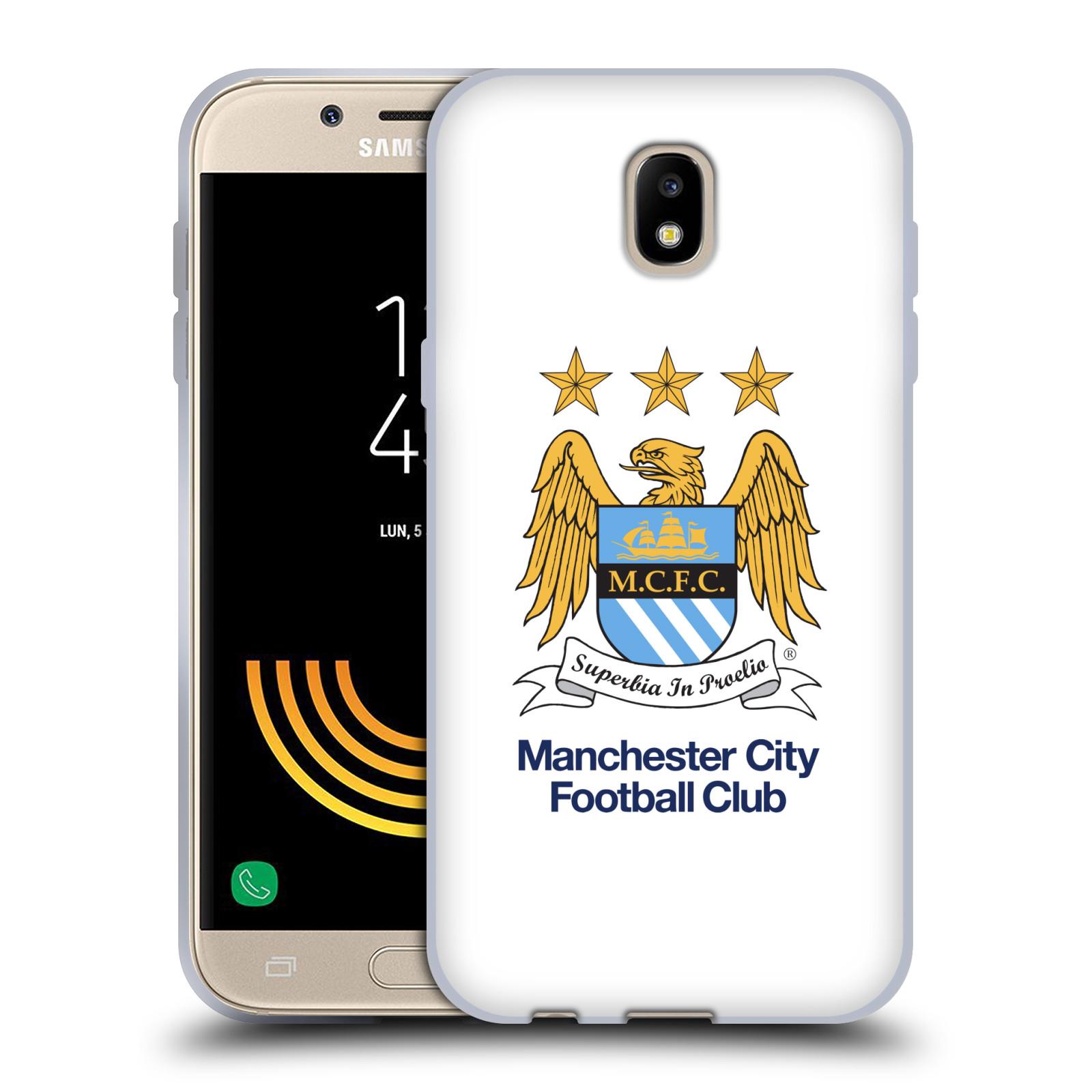 HEAD CASE silikonový obal na mobil Samsung Galaxy J5 2017 Fotbalový klub Manchester City bílé pozadí velký znak pták