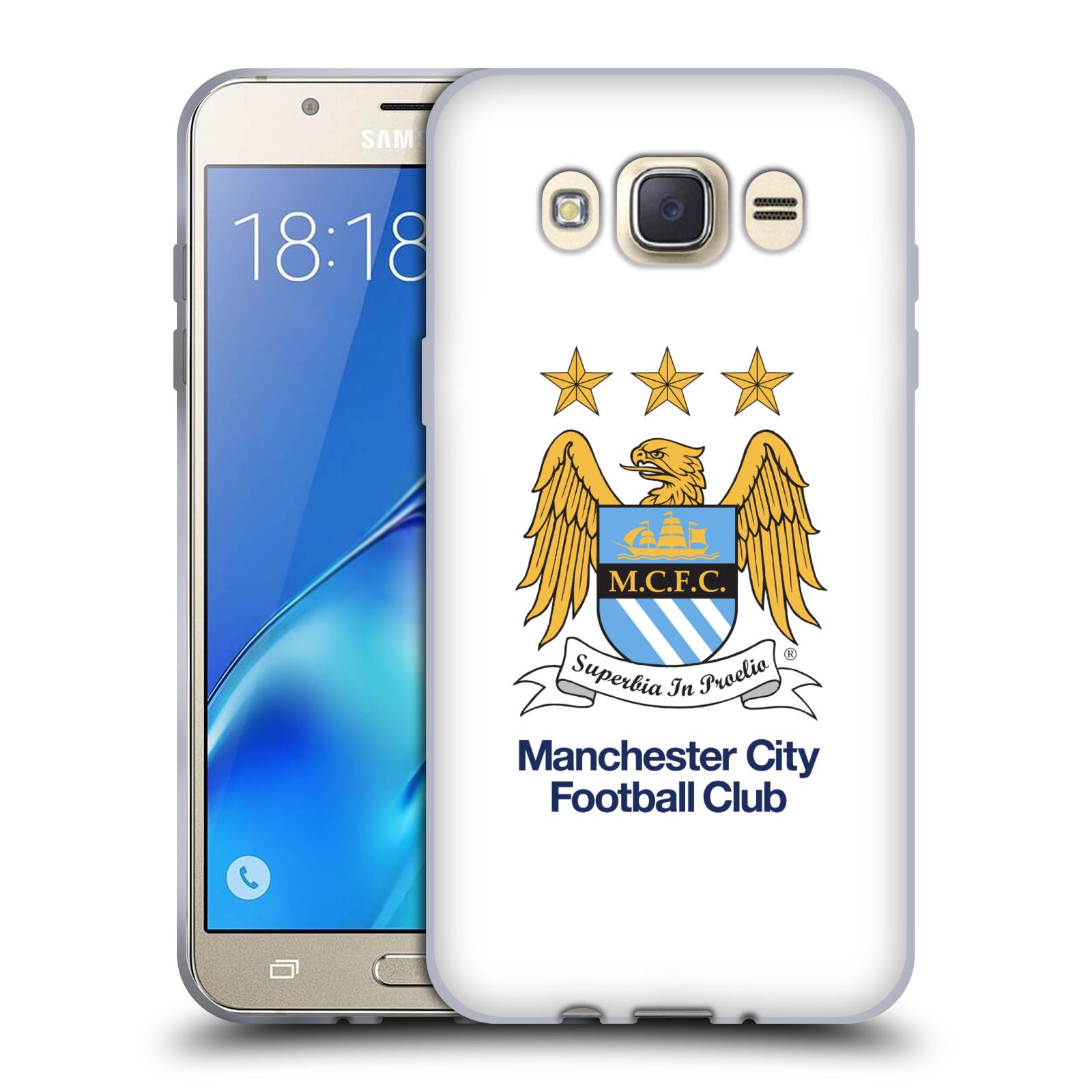 HEAD CASE silikonový obal na mobil Samsung Galaxy J7 2016 Fotbalový klub Manchester City bílé pozadí velký znak pták