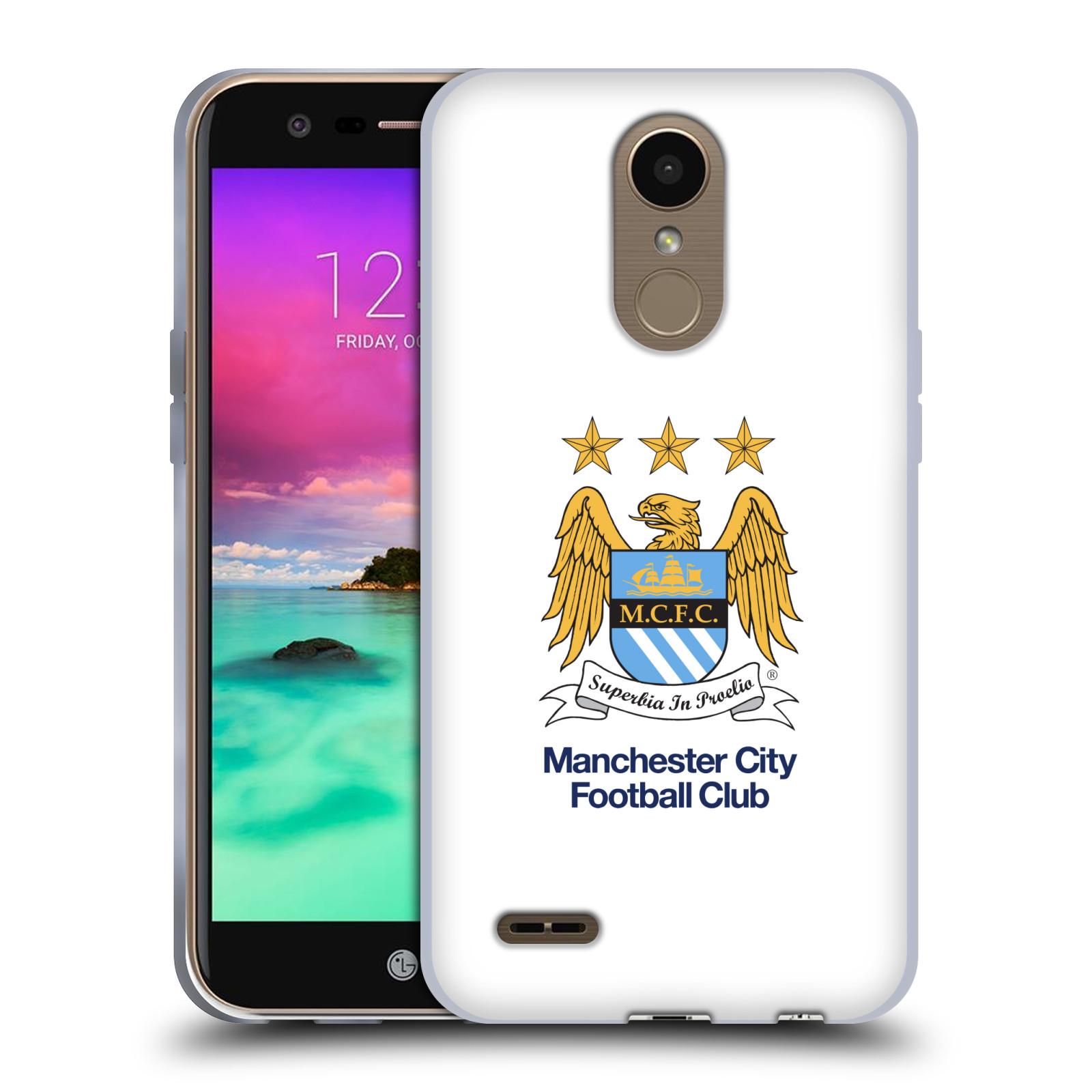 HEAD CASE silikonový obal na mobil LG K10 2017 / K10 2017 DUAL SIM Fotbalový klub Manchester City bílé pozadí velký znak pták