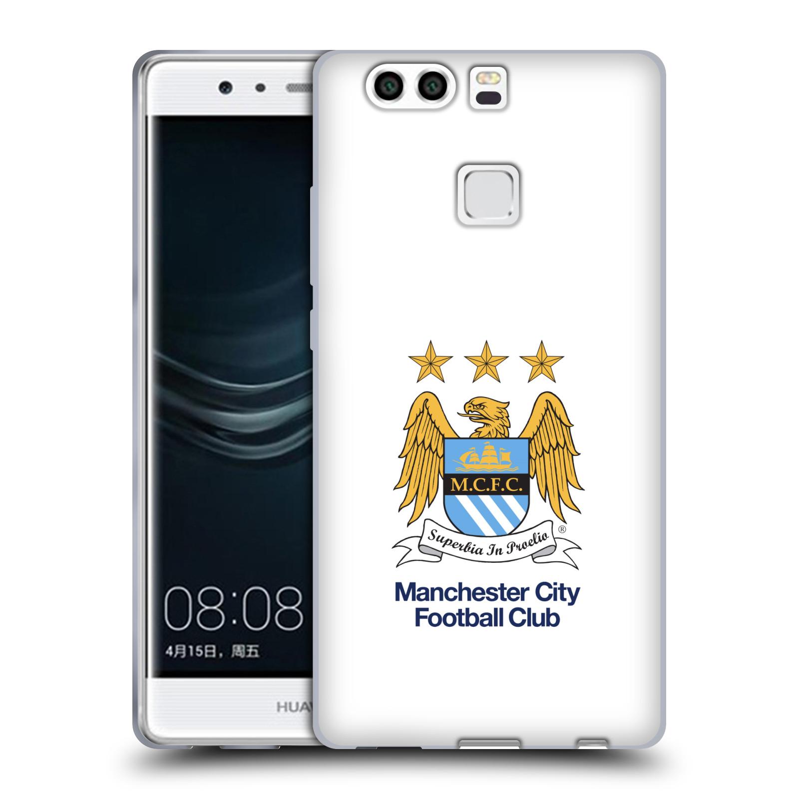 HEAD CASE silikonový obal na mobil Huawei P9 PLUS / P9 PLUS DUAL SIM Fotbalový klub Manchester City bílé pozadí velký znak pták