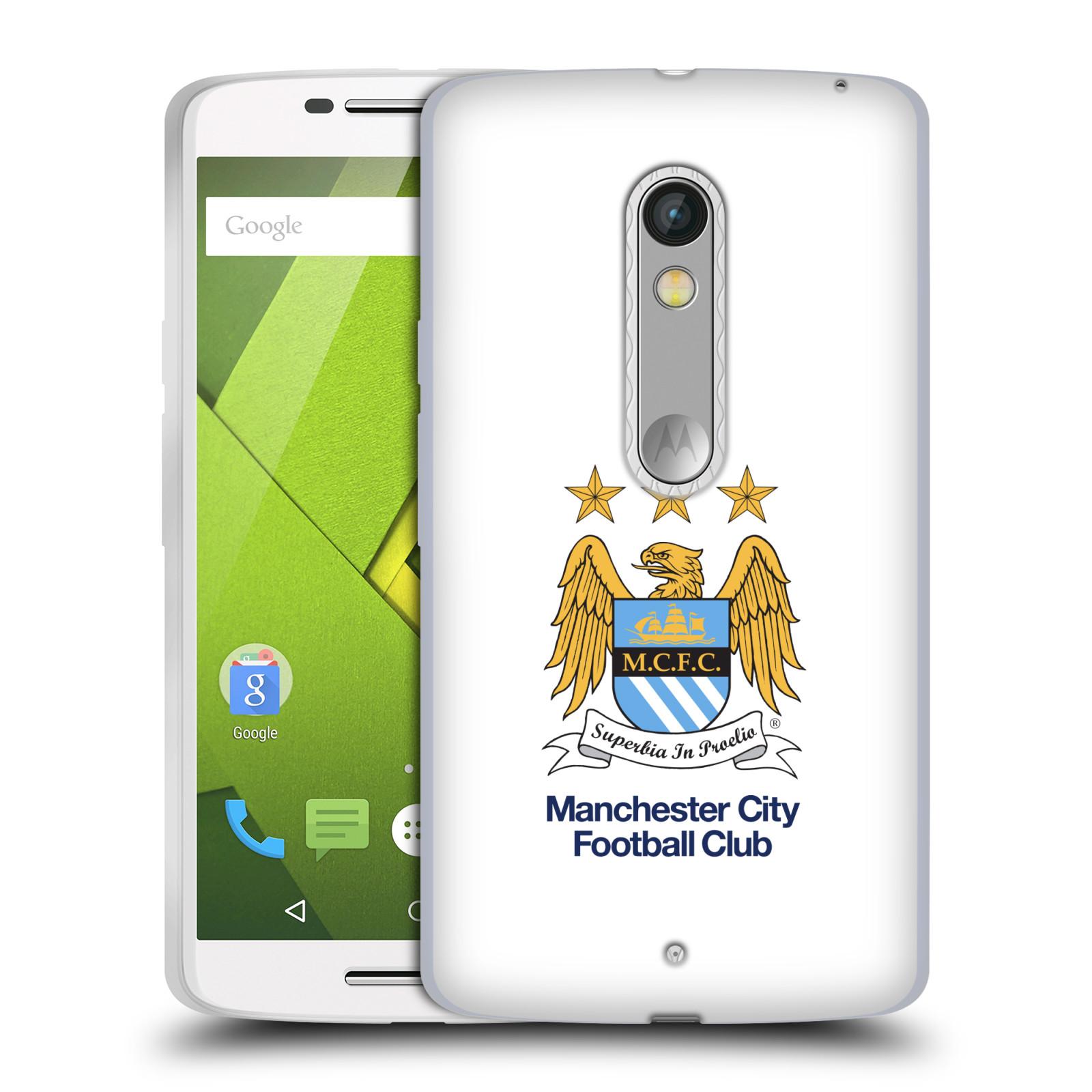 HEAD CASE silikonový obal na mobil Lenovo Moto X PLAY Fotbalový klub Manchester City bílé pozadí velký znak pták