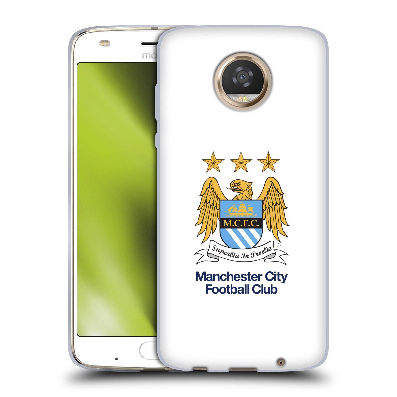 HEAD CASE silikonový obal na mobil Motorola Moto Z2 PLAY Fotbalový klub Manchester City bílé pozadí velký znak pták