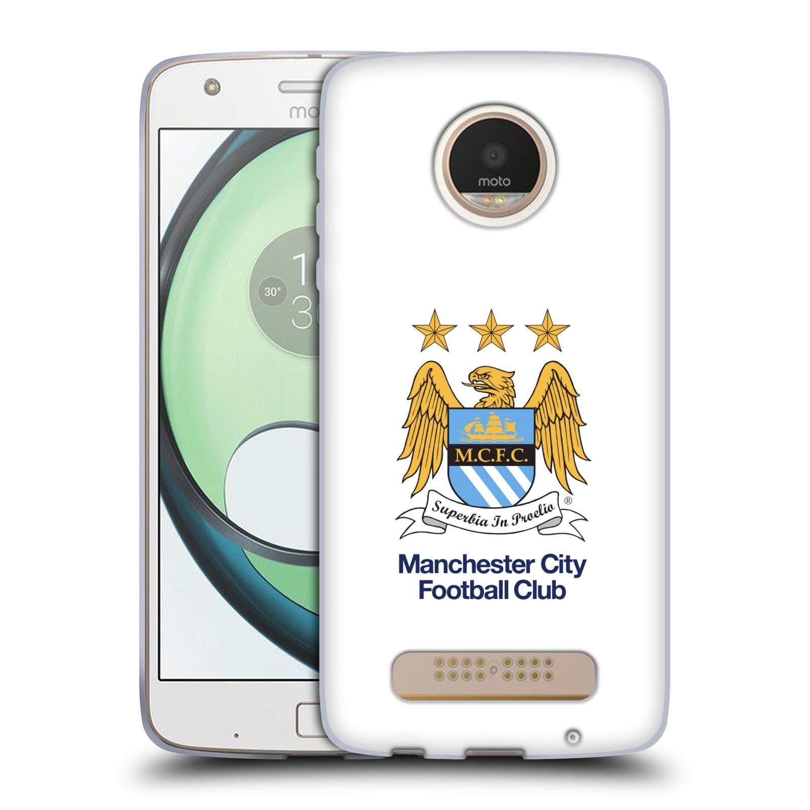 HEAD CASE silikonový obal na mobil Lenovo Moto Z PLAY Fotbalový klub Manchester City bílé pozadí velký znak pták