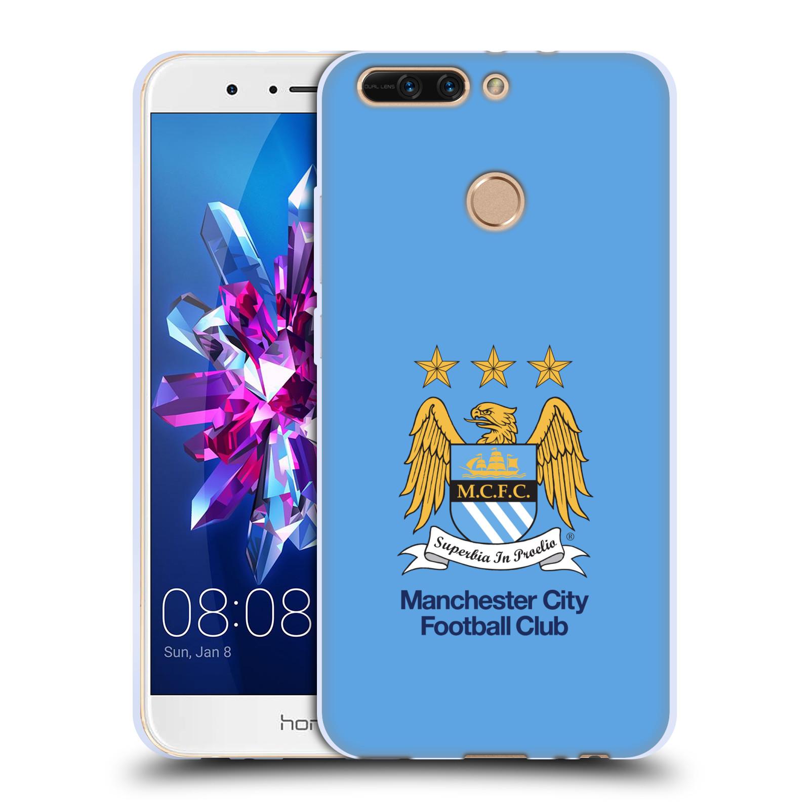 HEAD CASE silikonový obal na mobil Huawei HONOR 8 PRO / Honor 8 PRO DUAL SIM Fotbalový klub Manchester City nebesky modrá pozadí velký znak pták