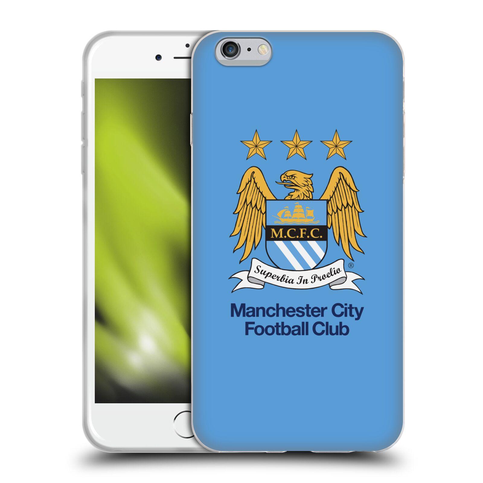 HEAD CASE silikonový obal na mobil Apple Iphone 6/6S PLUS Fotbalový klub Manchester City nebesky modrá pozadí velký znak pták