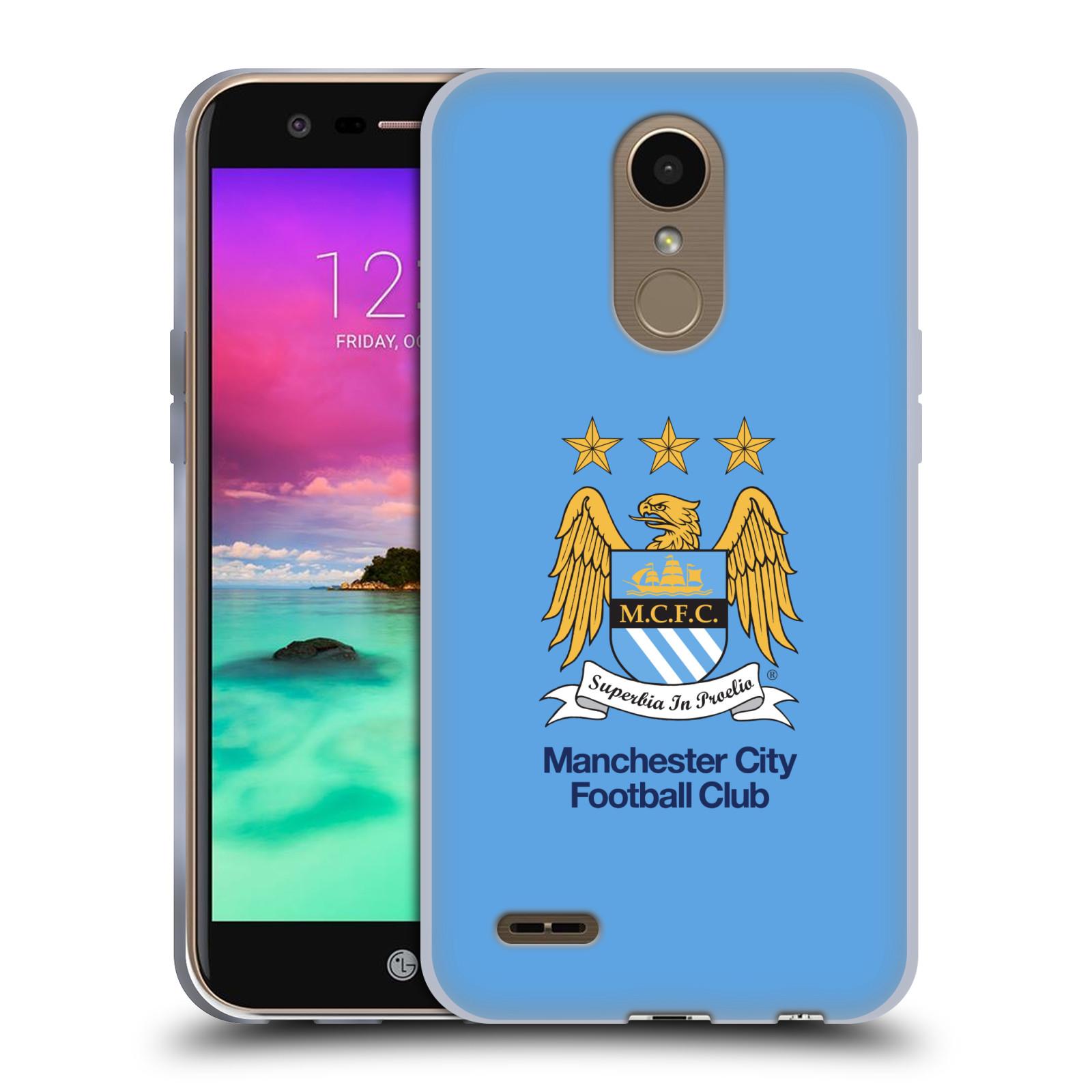 HEAD CASE silikonový obal na mobil LG K10 2017 / K10 2017 DUAL SIM Fotbalový klub Manchester City nebesky modrá pozadí velký znak pták