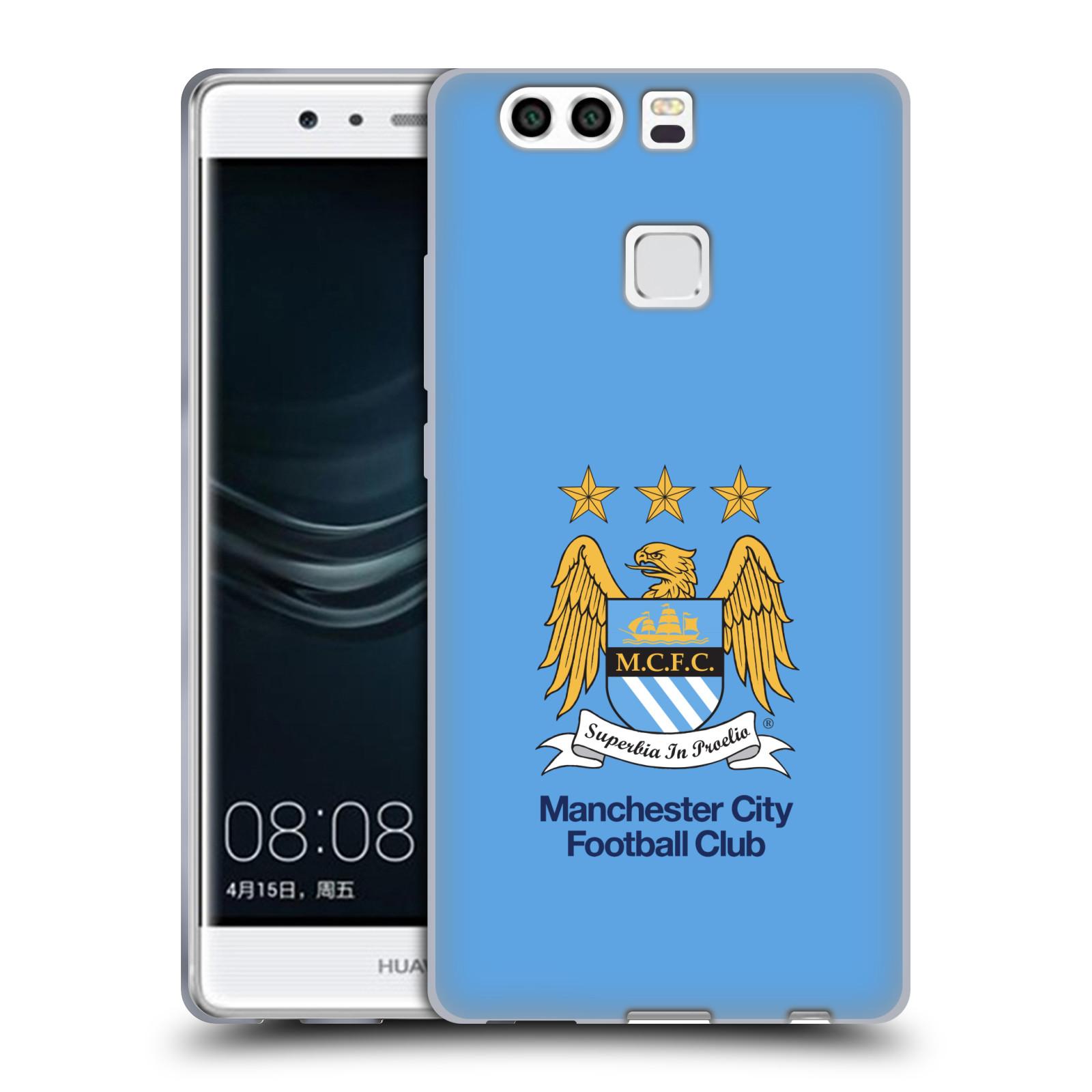 HEAD CASE silikonový obal na mobil Huawei P9 PLUS / P9 PLUS DUAL SIM Fotbalový klub Manchester City nebesky modrá pozadí velký znak pták