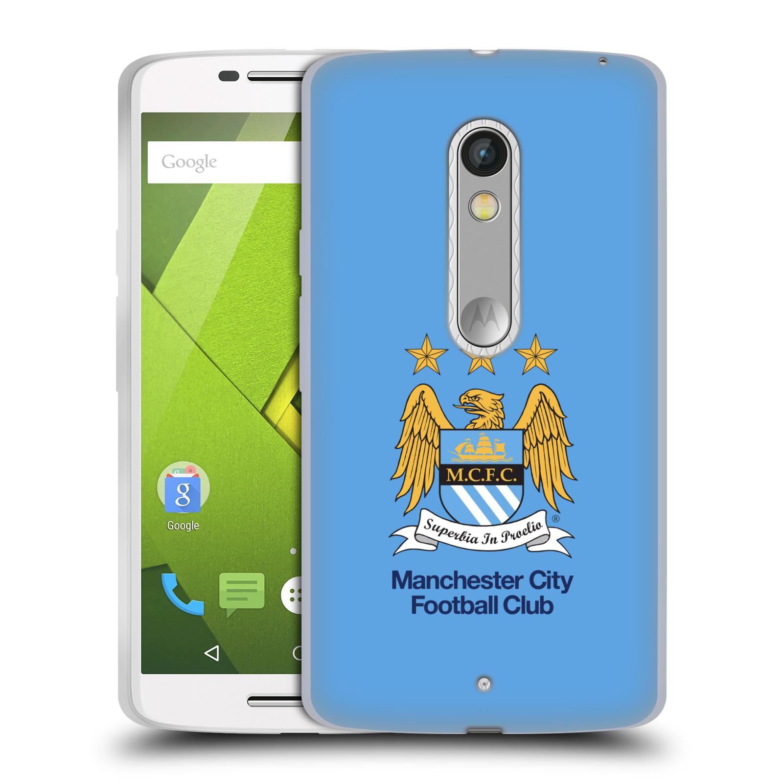 HEAD CASE silikonový obal na mobil Lenovo Moto X PLAY Fotbalový klub Manchester City nebesky modrá pozadí velký znak pták