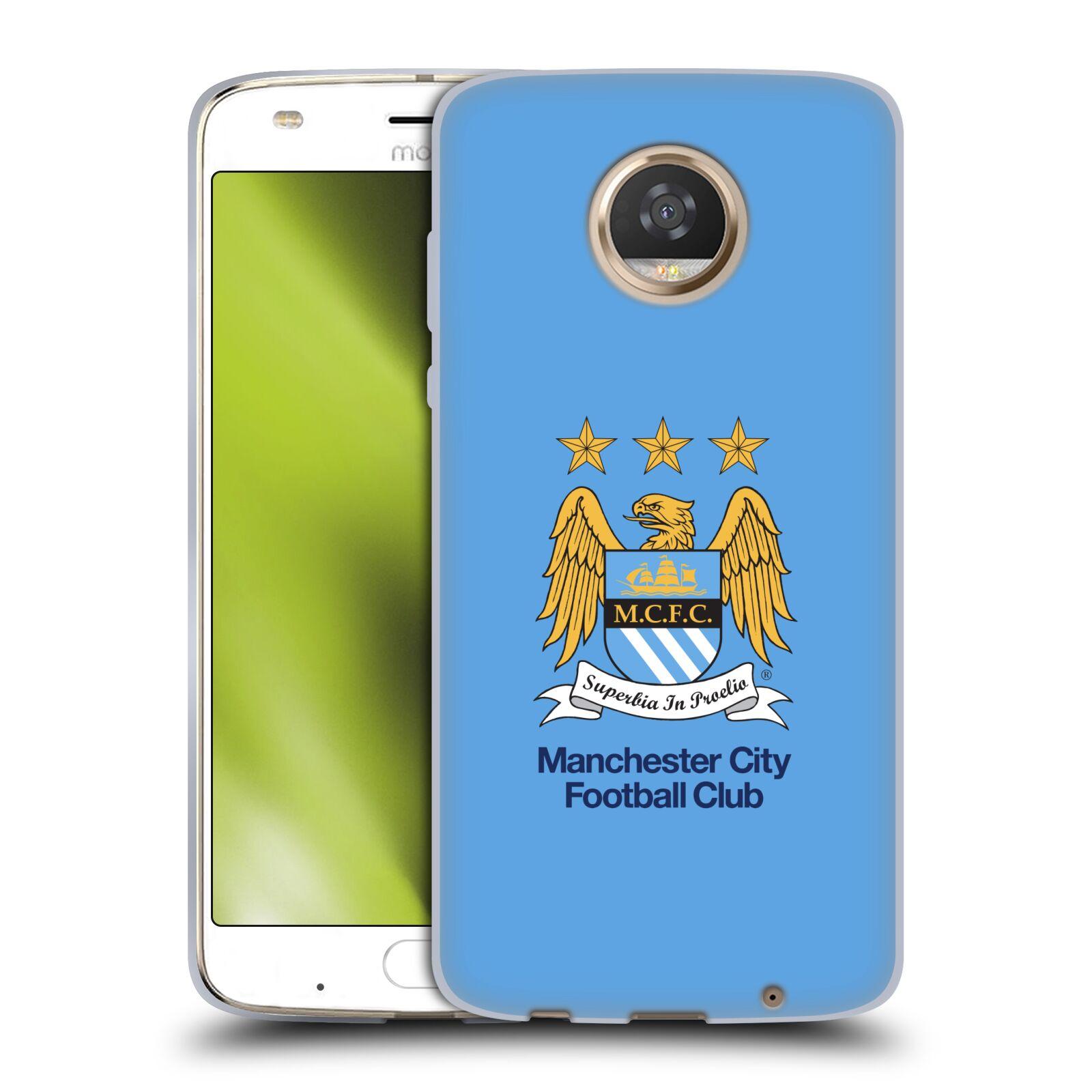 HEAD CASE silikonový obal na mobil Motorola Moto Z2 PLAY Fotbalový klub Manchester City nebesky modrá pozadí velký znak pták