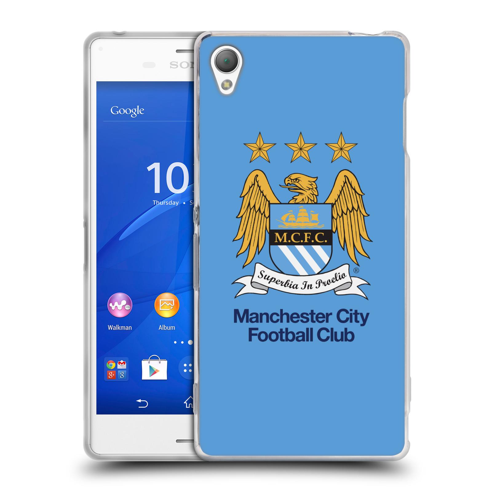 HEAD CASE silikonový obal na mobil Sony Xperia Z3 Fotbalový klub Manchester City nebesky modrá pozadí velký znak pták
