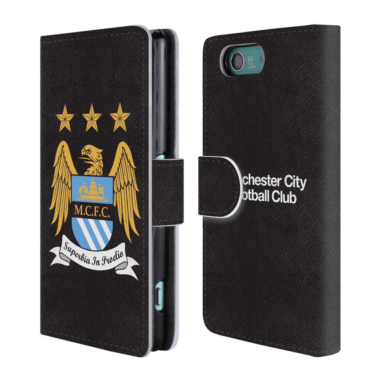 HEAD CASE Flipové pouzdro pro mobil Sony Xperia Z3 COMPACT (D5803) Oficiální Manchester City znak a černé pozadí