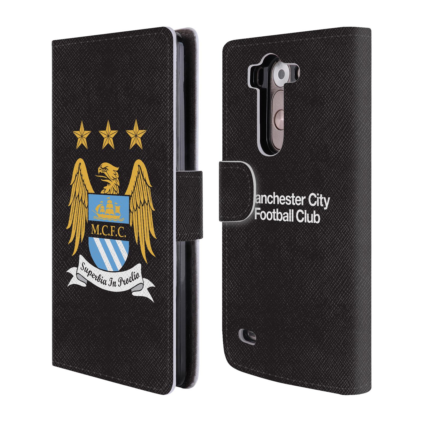 HEAD CASE Flipové pouzdro pro mobil LG G3s (D722) Oficiální Manchester City znak a černé pozadí