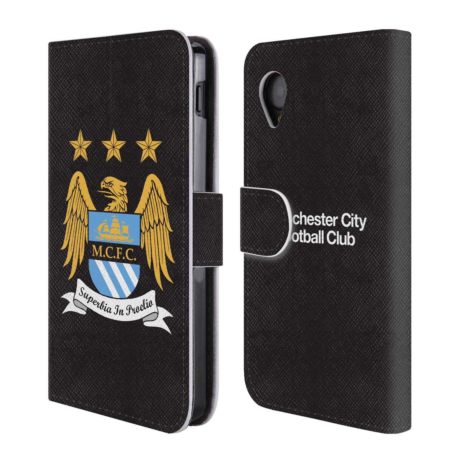 HEAD CASE Flipové pouzdro pro mobil LG Nexus 5 (D821) Oficiální Manchester City znak a černé pozadí