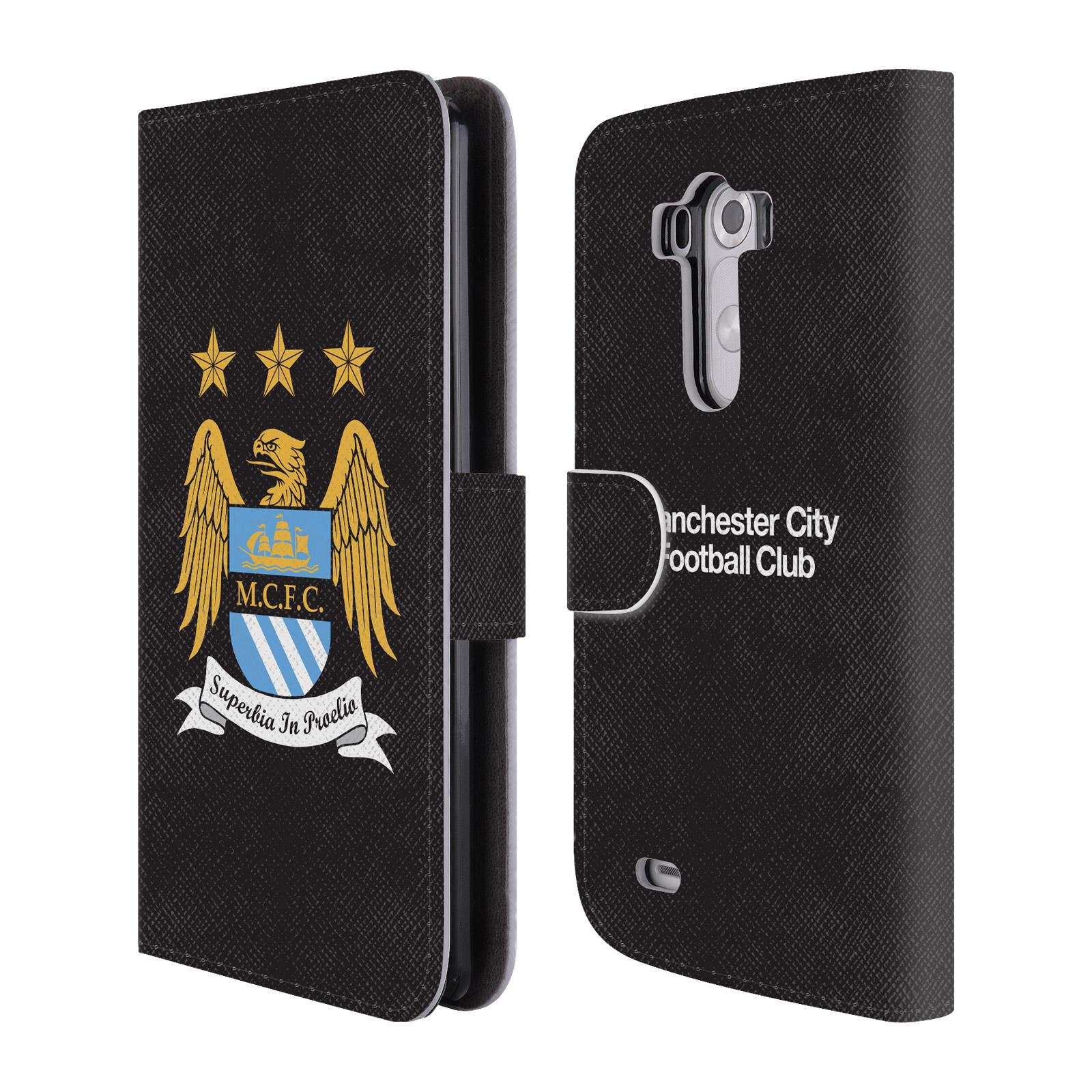 HEAD CASE Flipové pouzdro pro mobil LG G3 (D855) Oficiální Manchester City znak a černé pozadí