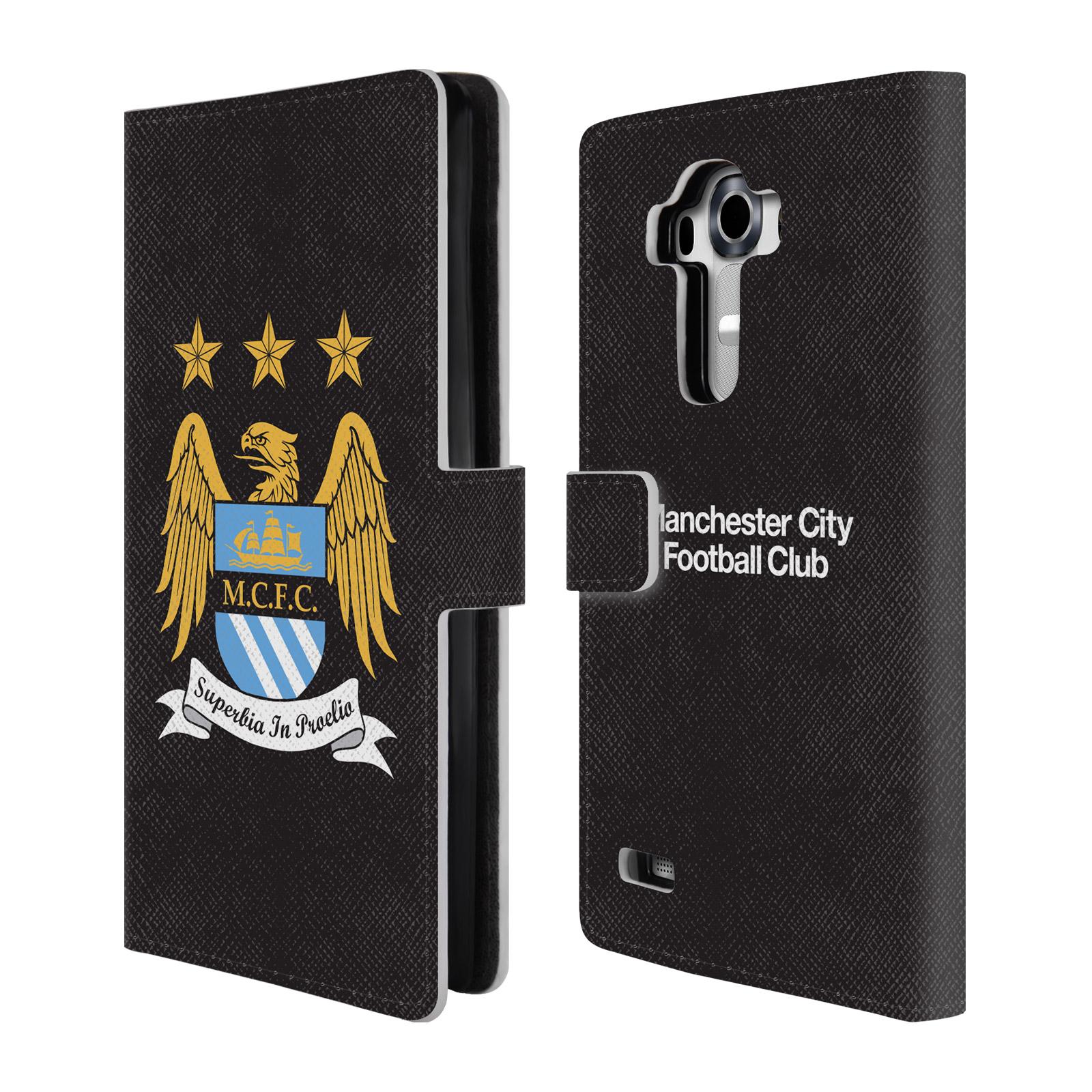 HEAD CASE Flipové pouzdro pro mobil LG G4 (H815) Oficiální Manchester City znak a černé pozadí