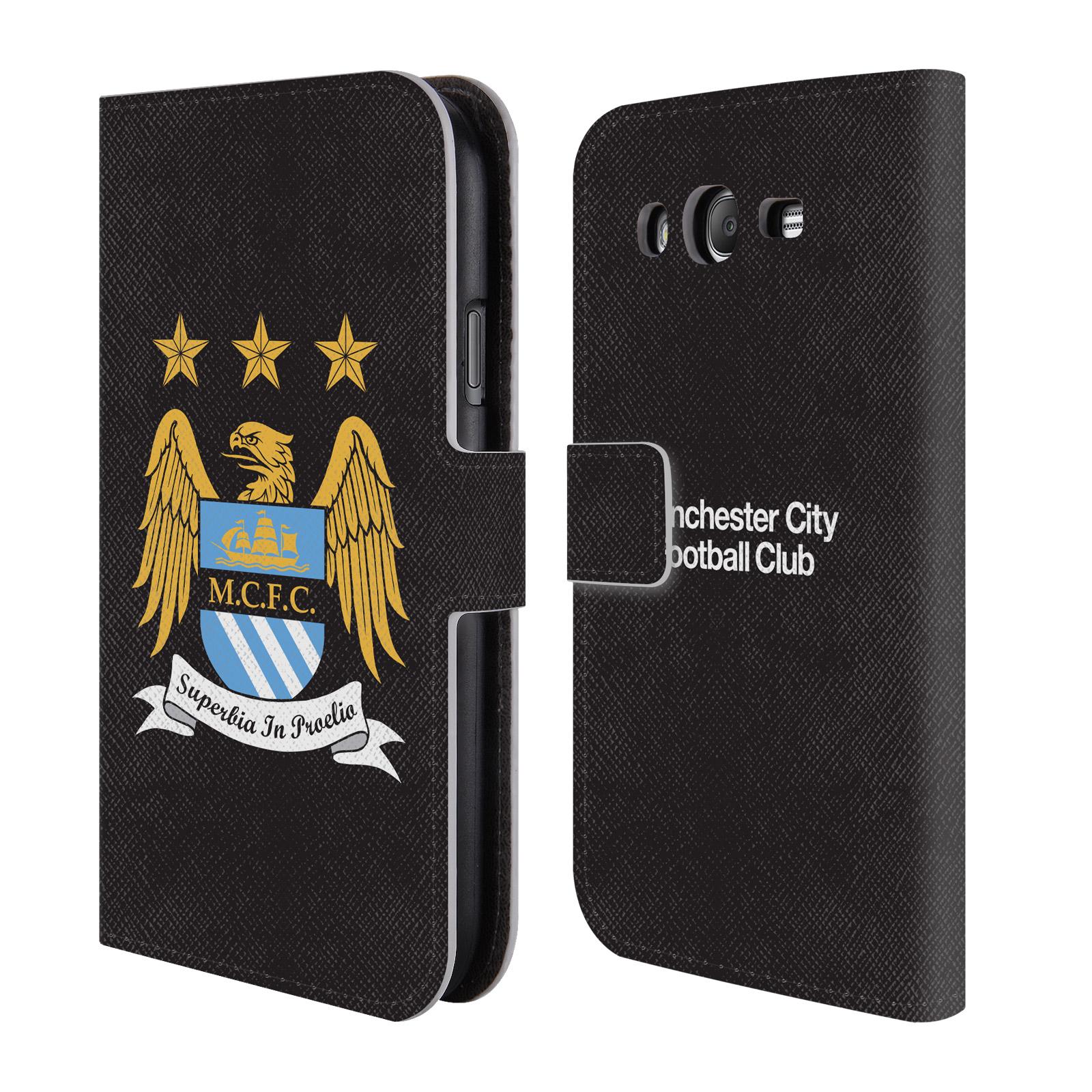HEAD CASE Flipové pouzdro pro mobil Samsung Galaxy Grand (I9082) Oficiální Manchester City znak a černé pozadí