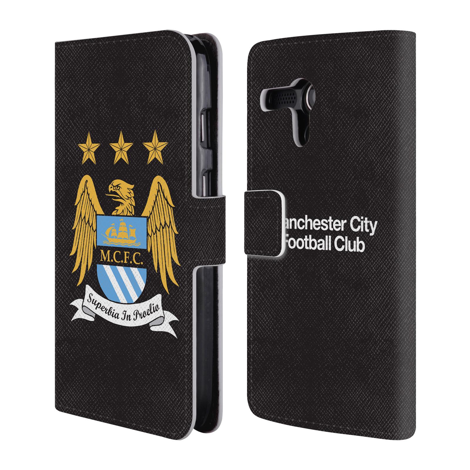 HEAD CASE Flipové pouzdro pro mobil Motorola Moto G Oficiální Manchester City znak a černé pozadí