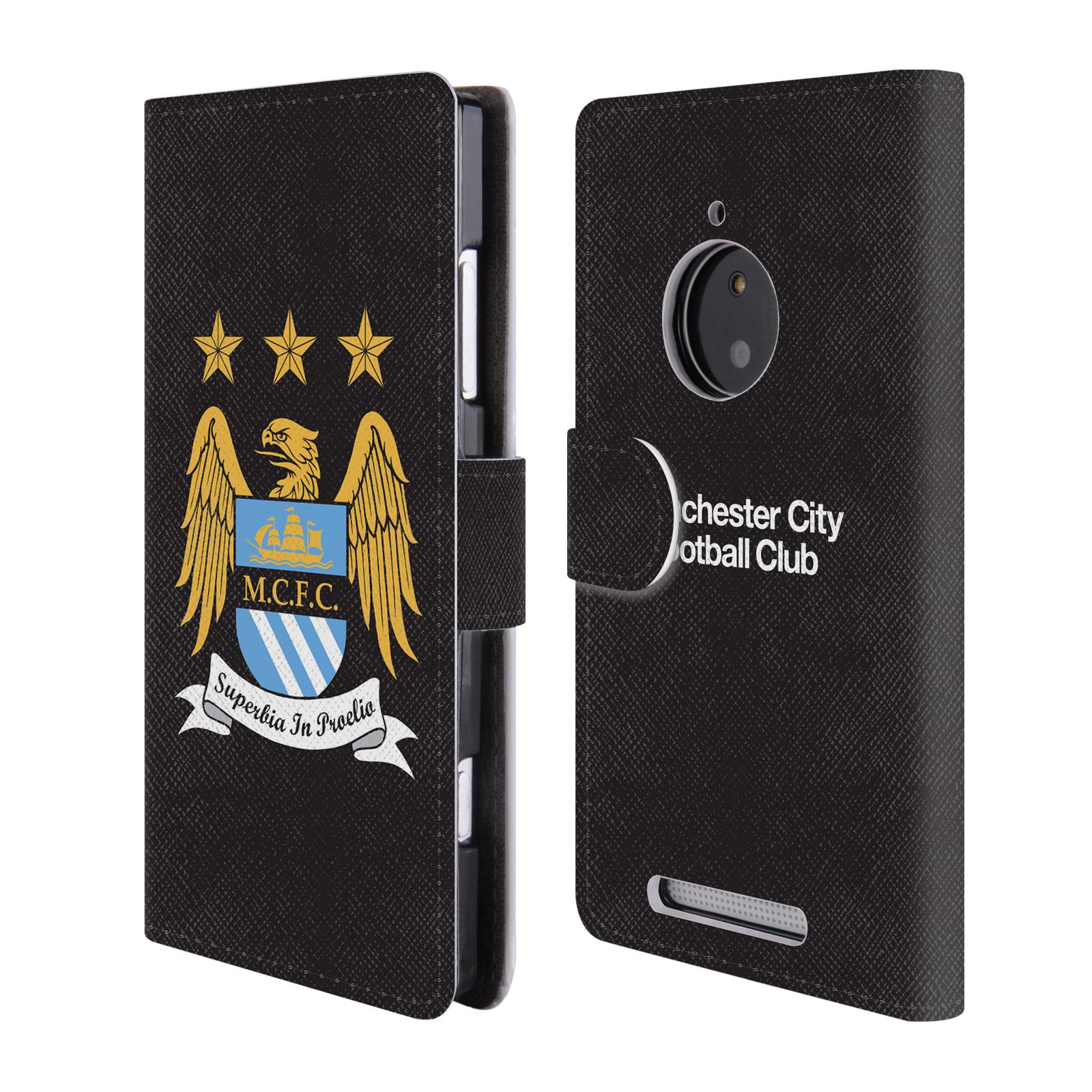 HEAD CASE Flipové pouzdro pro mobil Nokia Lumia 830 Oficiální Manchester City znak a černé pozadí