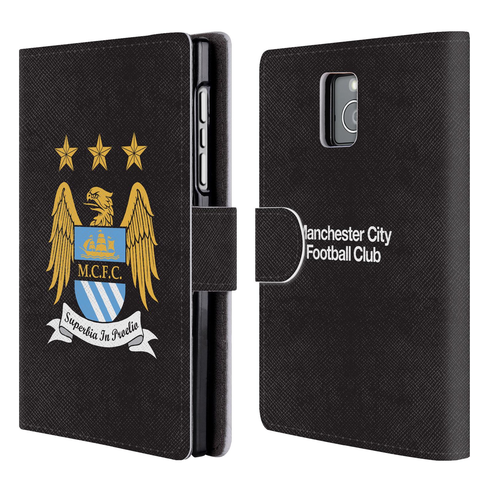 HEAD CASE Flipové pouzdro pro mobil Blackberry Passport Oficiální Manchester City znak a černé pozadí