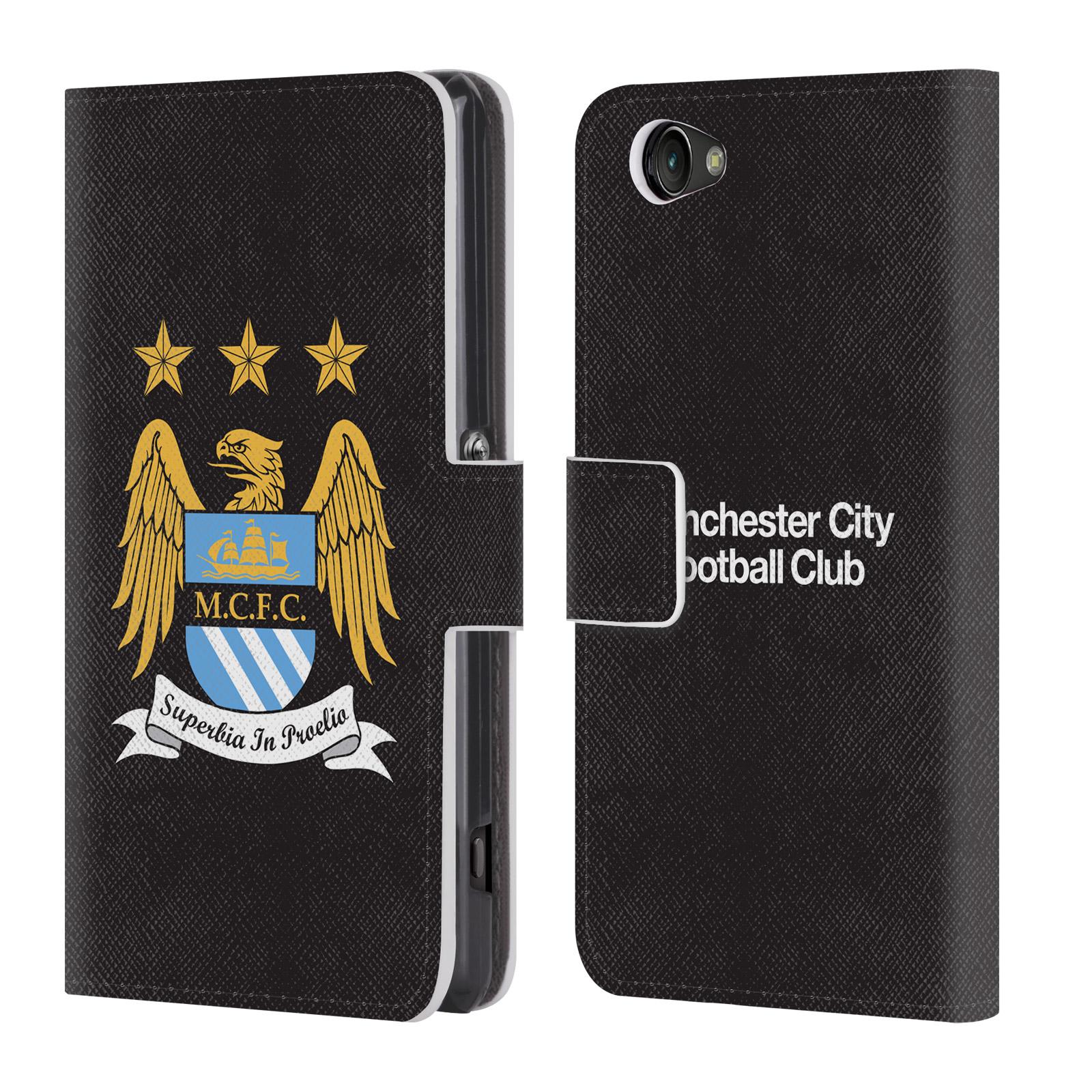 HEAD CASE Flipové pouzdro pro mobil Sony Xperia Z1 COMPACT (D5503) Oficiální Manchester City znak a černé pozadí
