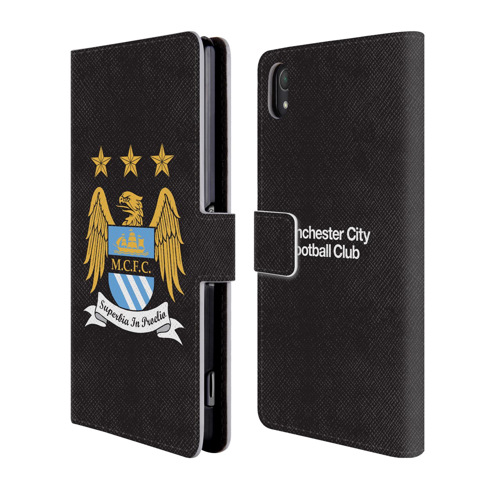 HEAD CASE Flipové pouzdro pro mobil Sony Xperia Z2 Oficiální Manchester City znak a černé pozadí