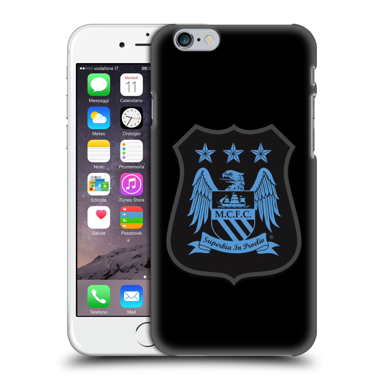 Manchester City FC Crest Kit-Mono Blue