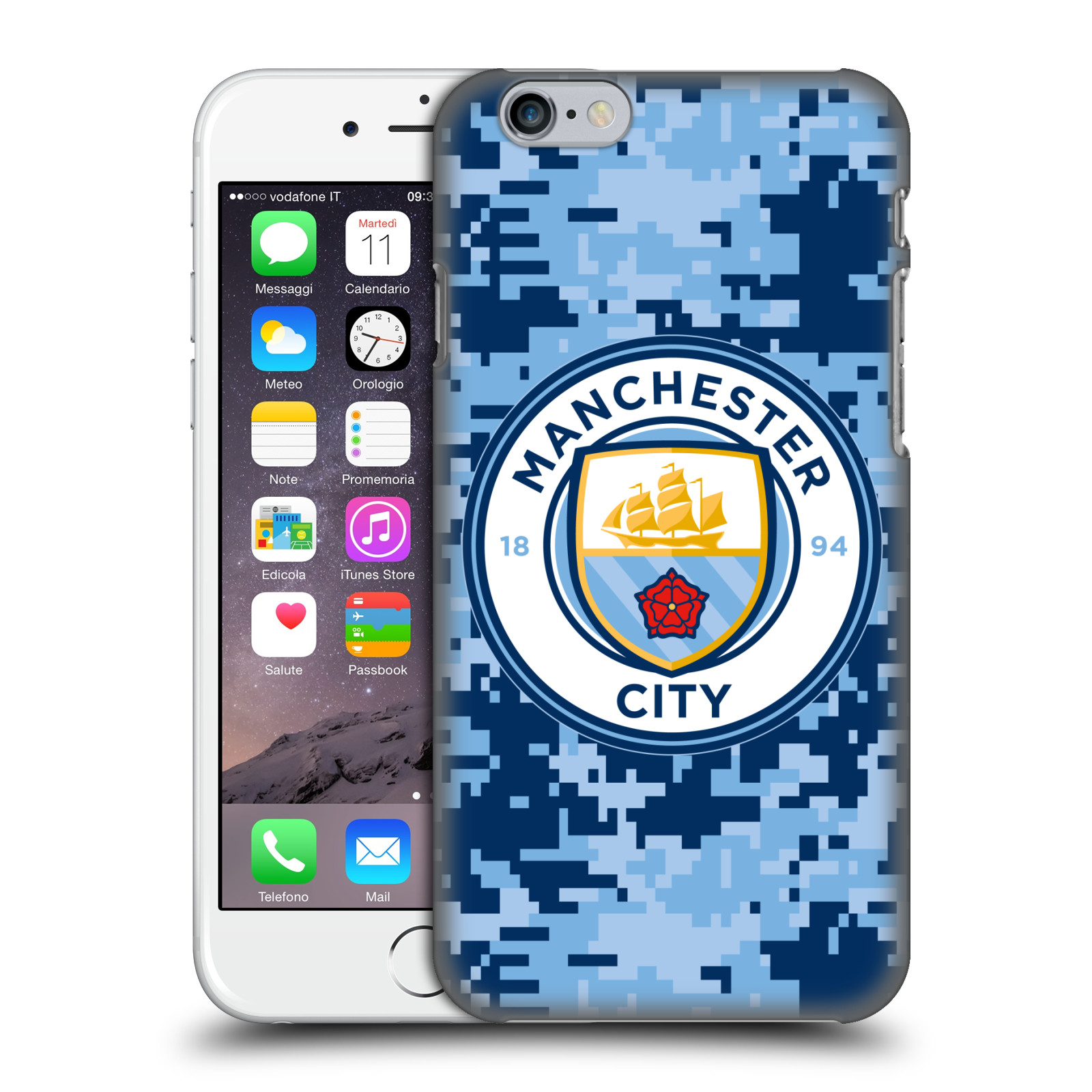 Manchester City FC MCFC Digital Camouflage-Brick Bluemoon