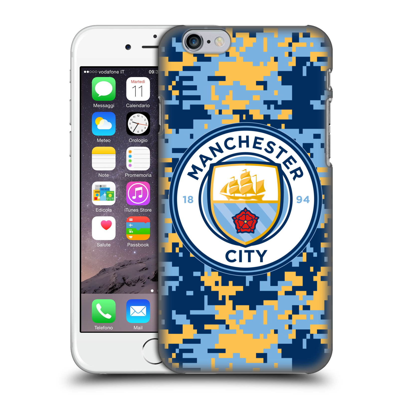 Manchester City FC MCFC Digital Camouflage-Brick Club