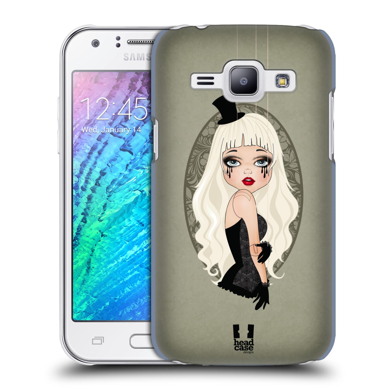 HEAD CASE plastový obal na mobil SAMSUNG Galaxy J1, J100 vzor Marioneta panenka KLAUDIE ZELENÁ